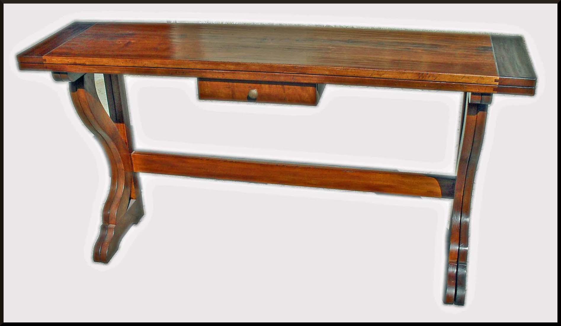 Tavolo fratino in legno antico apribile a consolle - La Commode di Davide Corno