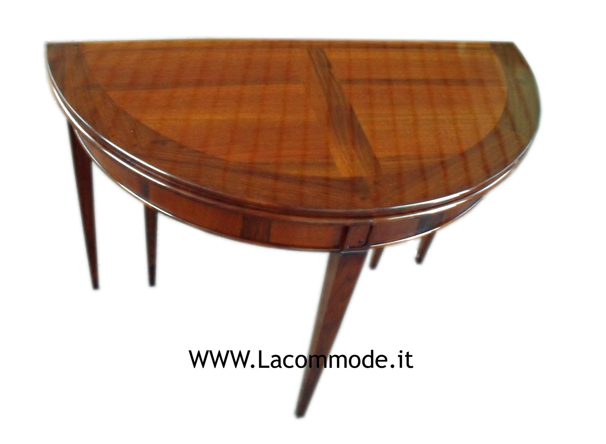 tavolo consolle mezzaluna allungabile classico - La Commode di ...