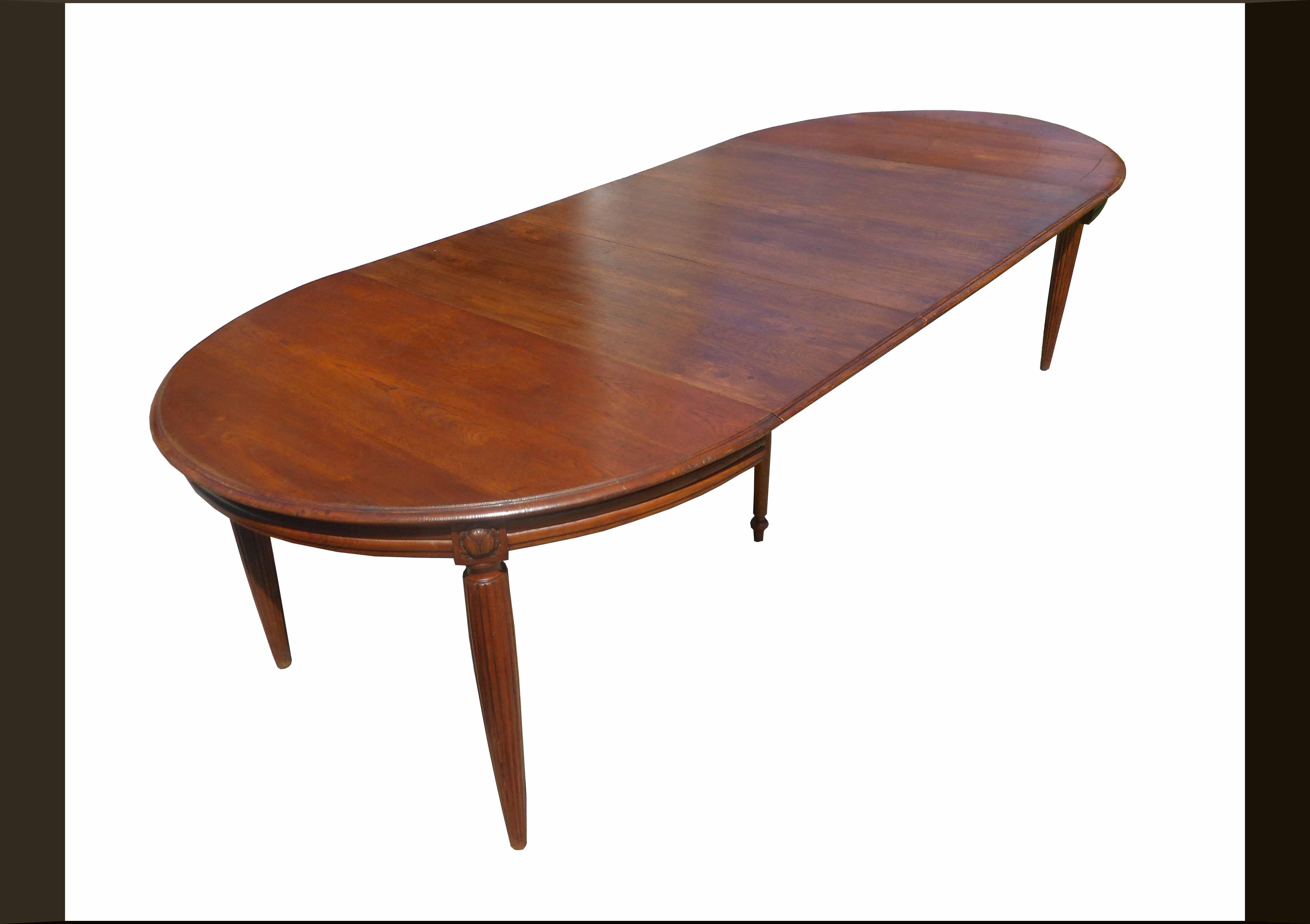 Tavolo ovale allungabile restaurato