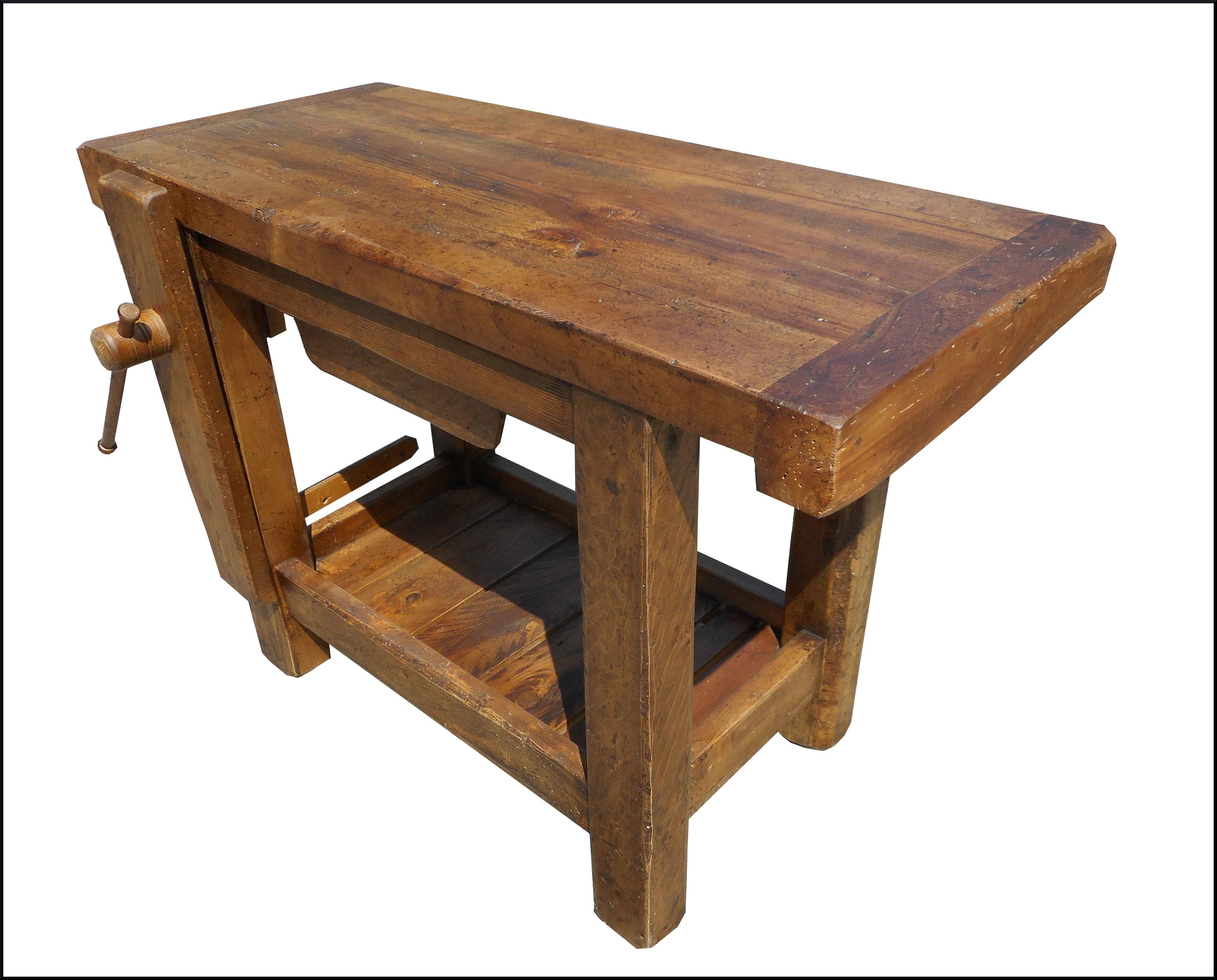 Banco Da Falegname Antico piccolo banco da lavoro realizzato in legno antico - la