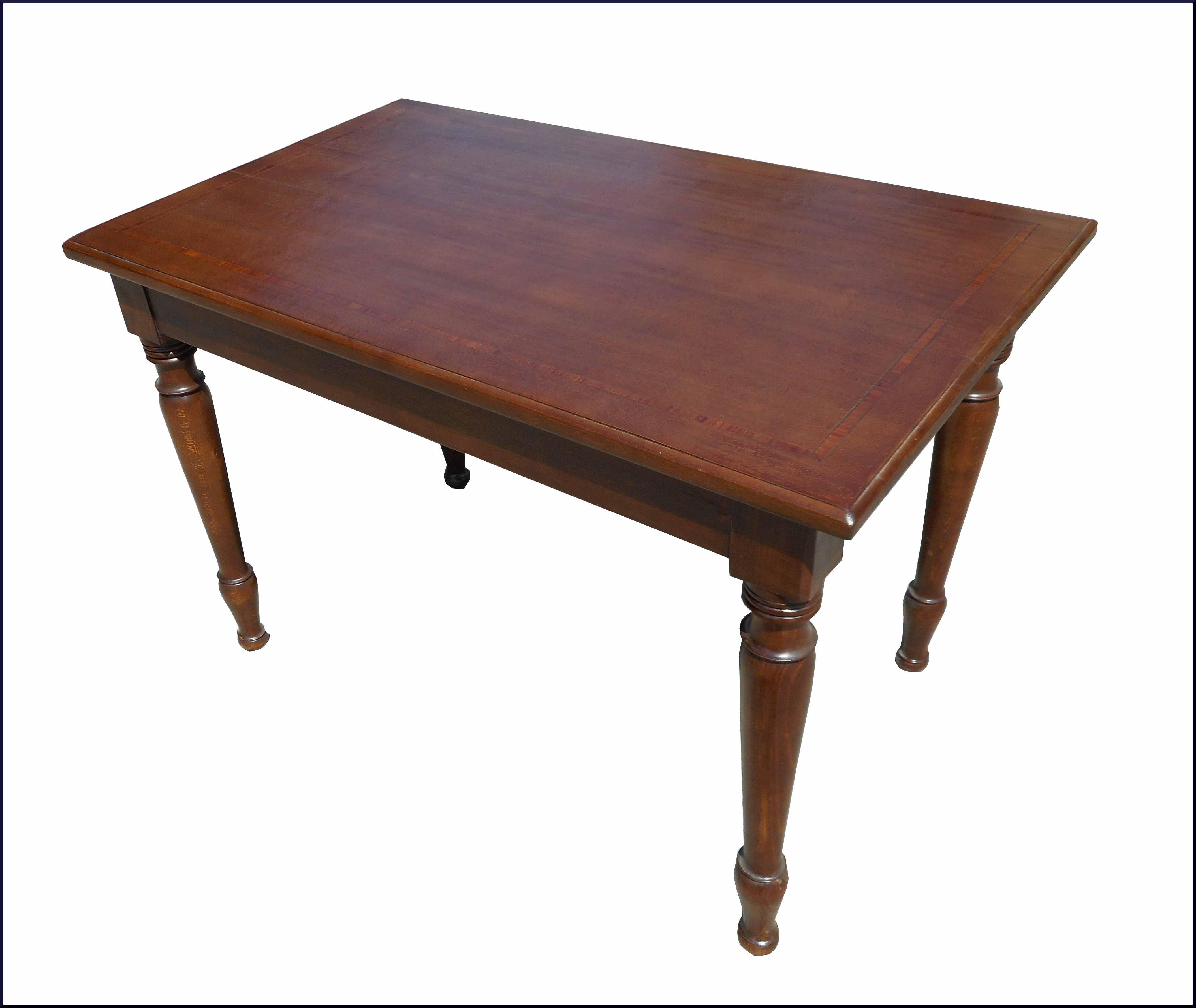 Tavoli Da Cucina Piccole Dimensioni.Piccolo Tavolo Da Cucina Con Gambe Tornite E Piano Intarsiato Con