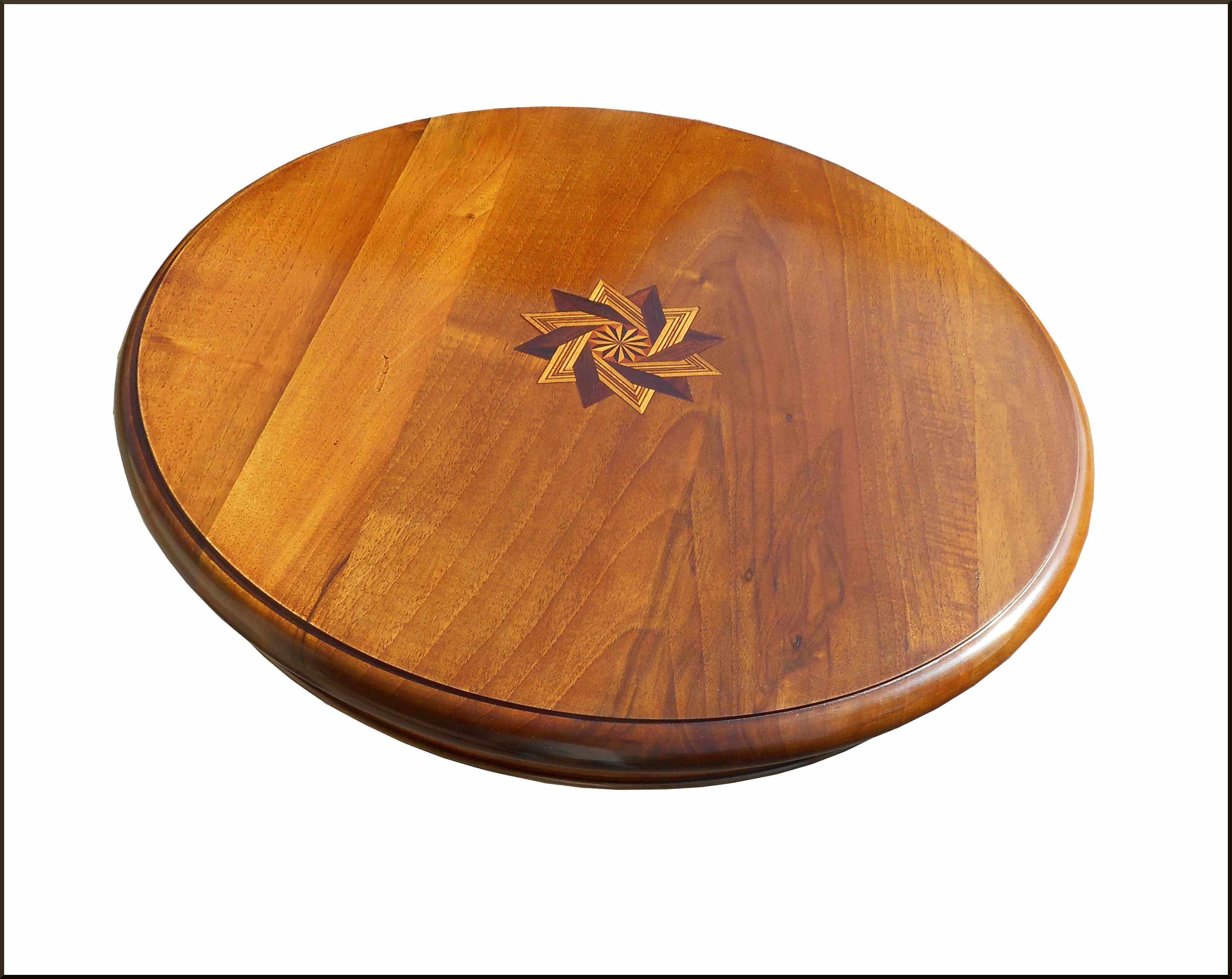 Tavolino rotondo con stella 60