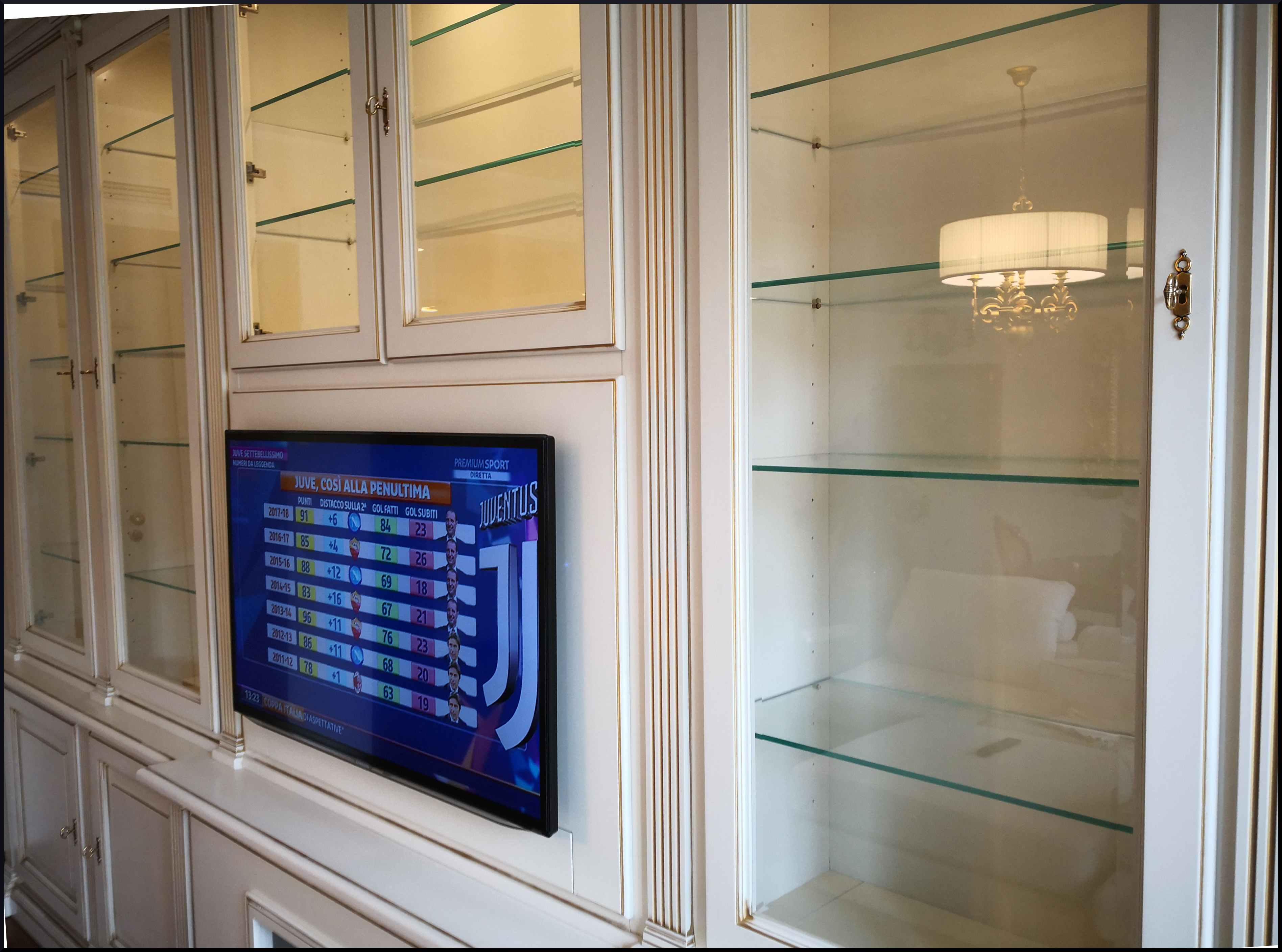 Libreria porta tv classica laccata