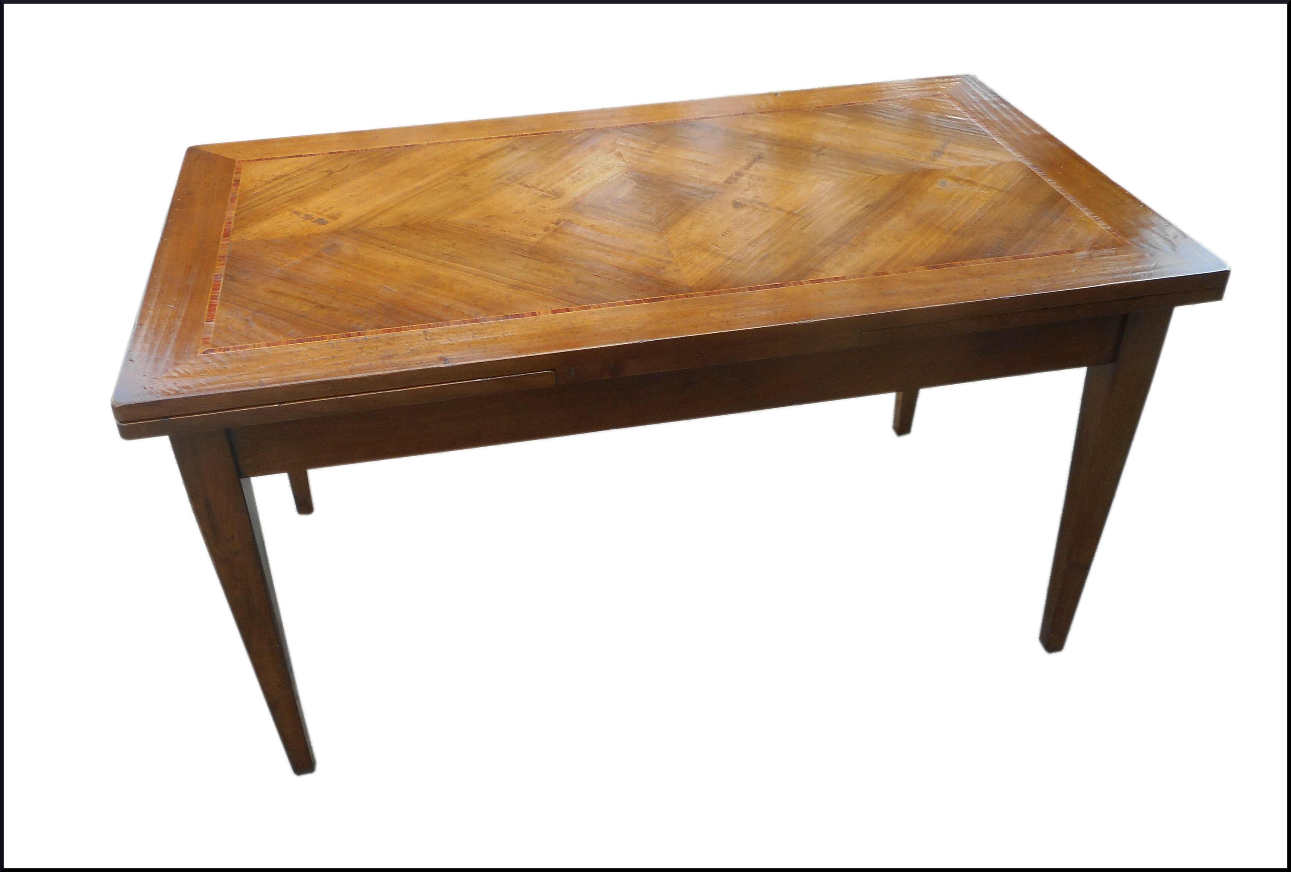 Tavolo classico allungabile con legno di rosa
