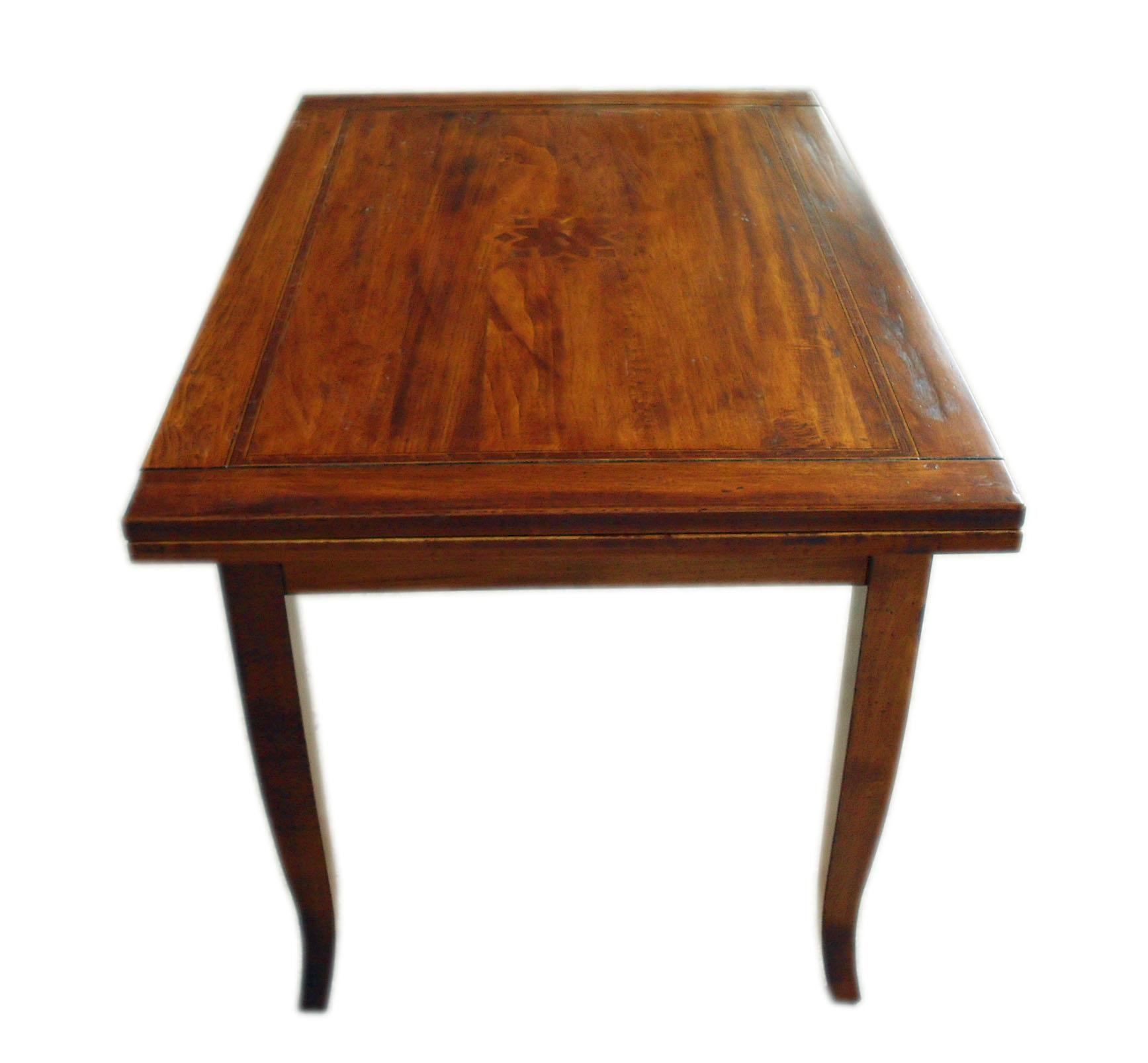 Tavolo allungabile arte povera anticato intarsio - La Commode di Davide Corno