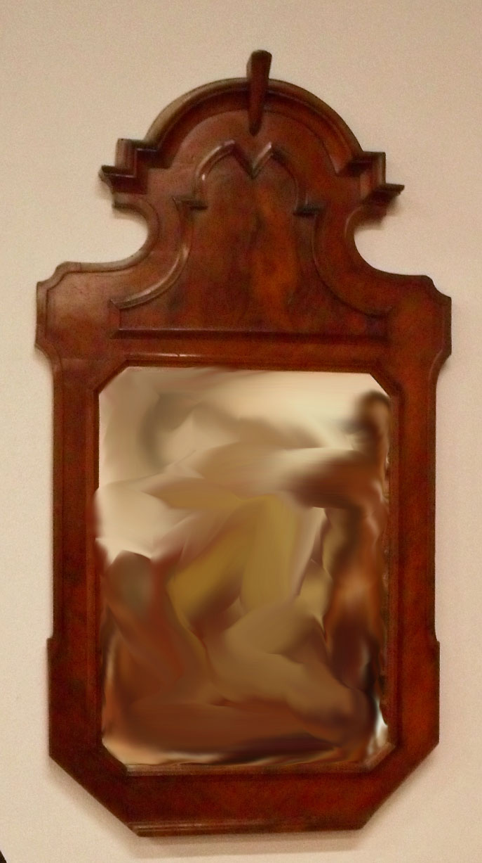 Antica specchiera umbertina