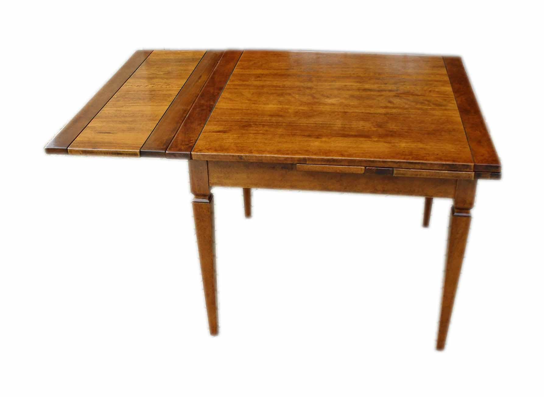 Tavolo in legno massello allungabile a tiro con gamba luigi sedici ...