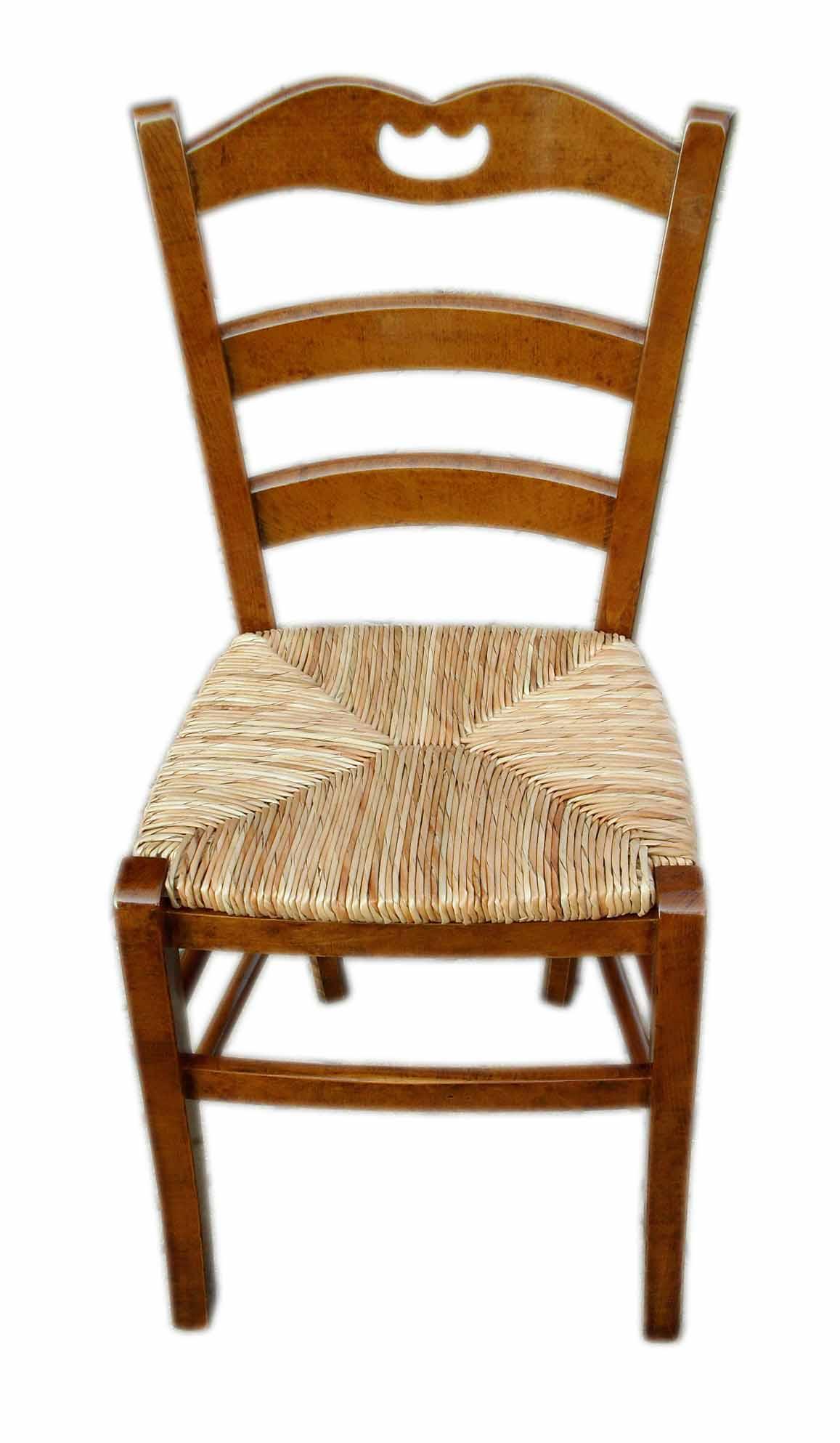 sedia rustica con paglia stile campagnola