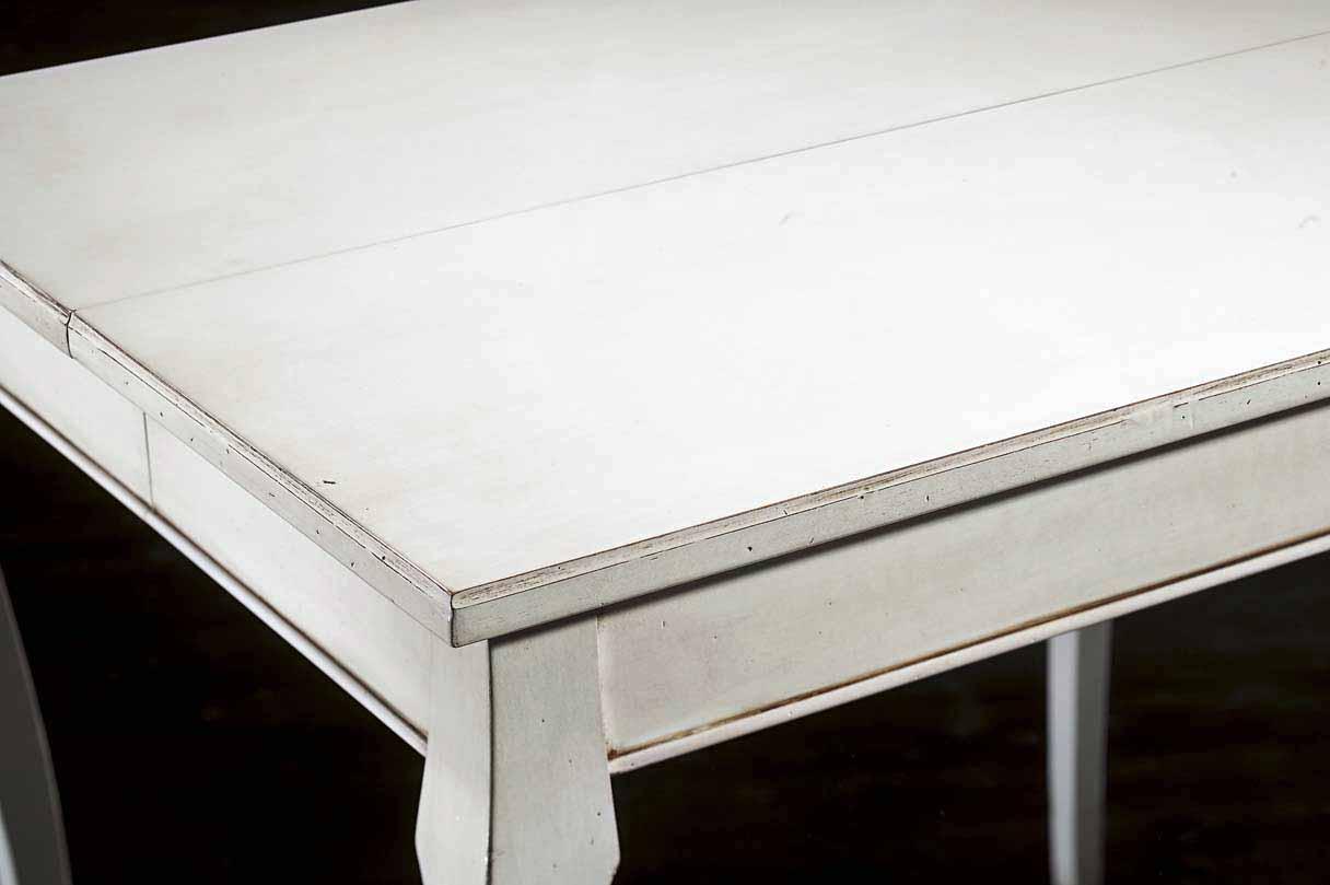 Tavolo rettangolare laccato bianco apribile