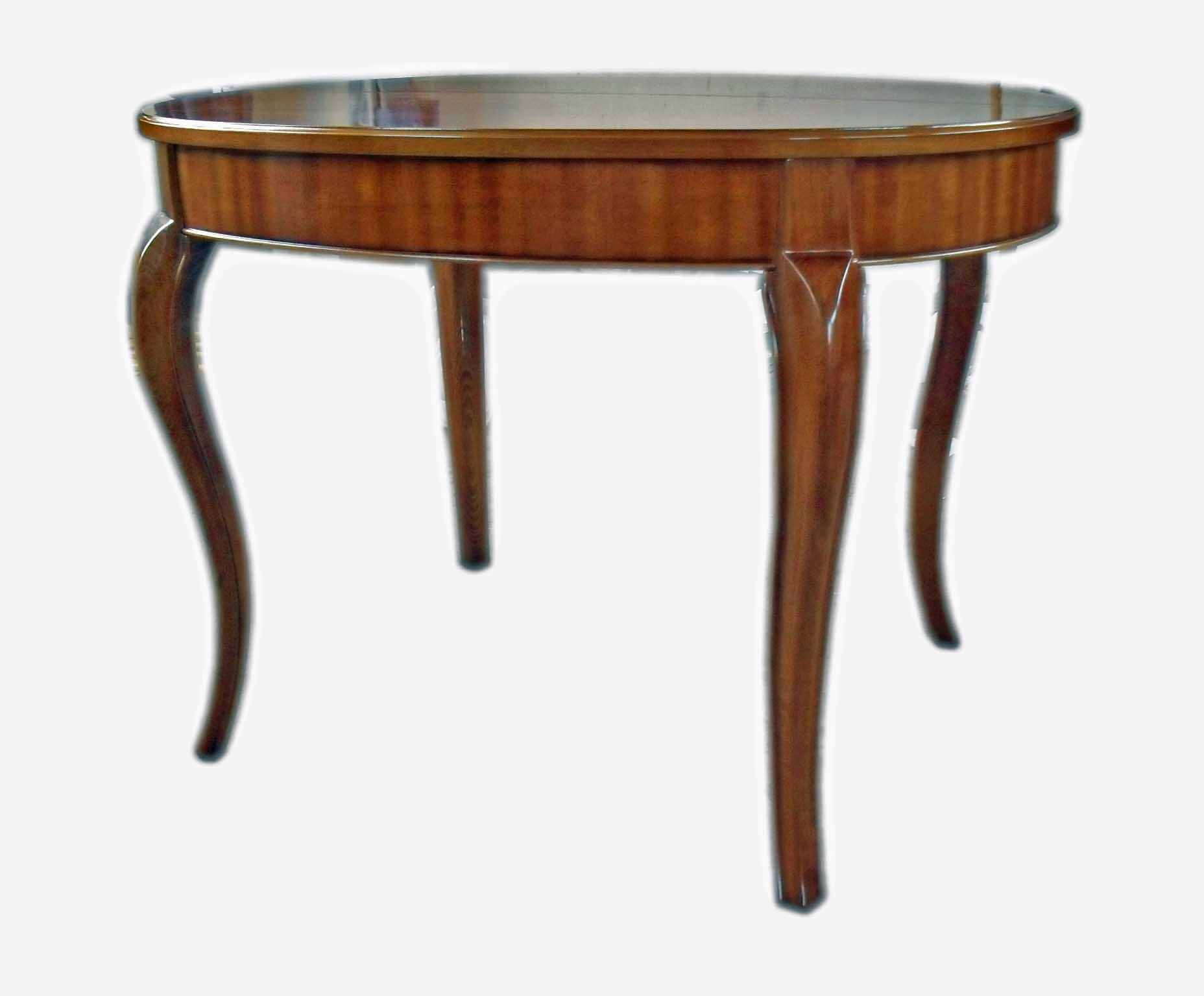 Tavolo ovale in ciliegio allungabile
