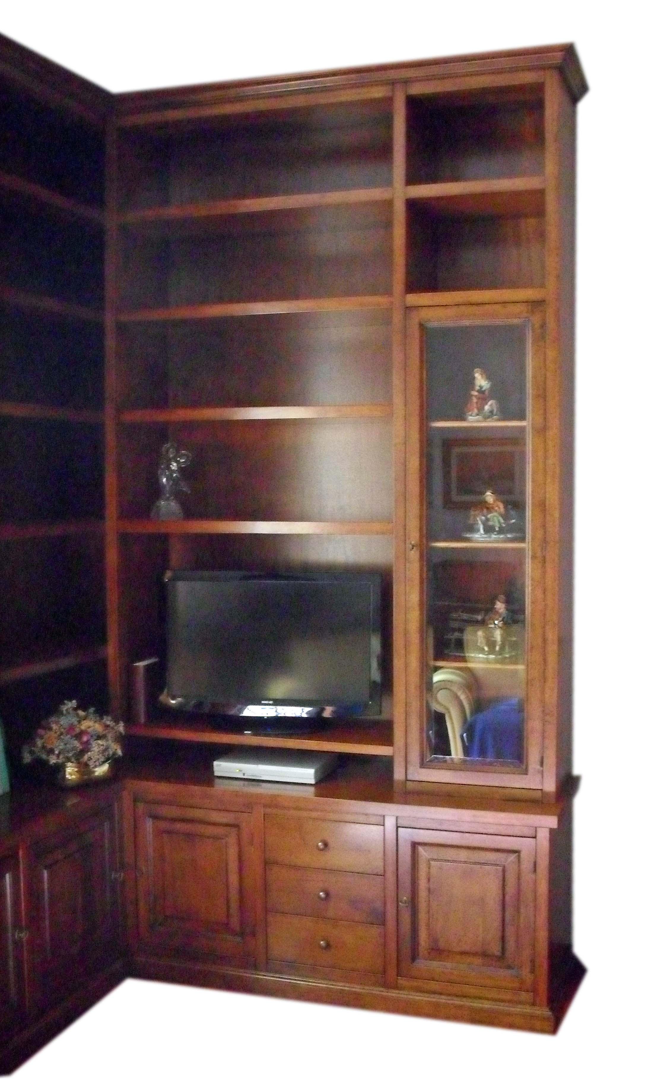 Mobile libreria porta tv angolo la commode di davide corno - Mobili tv angolo ...