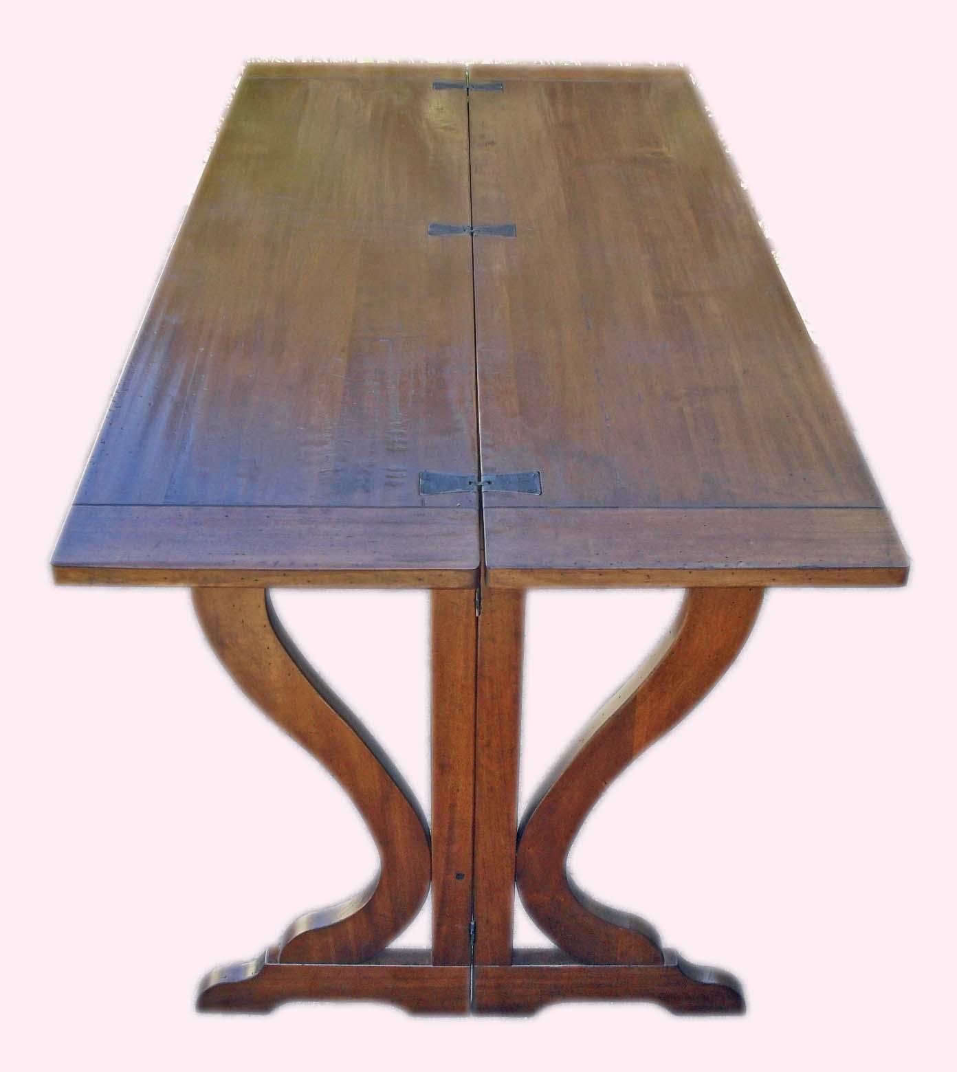 Tavolo fratino in legno antico apribile a consolle la for Tavolo apribile
