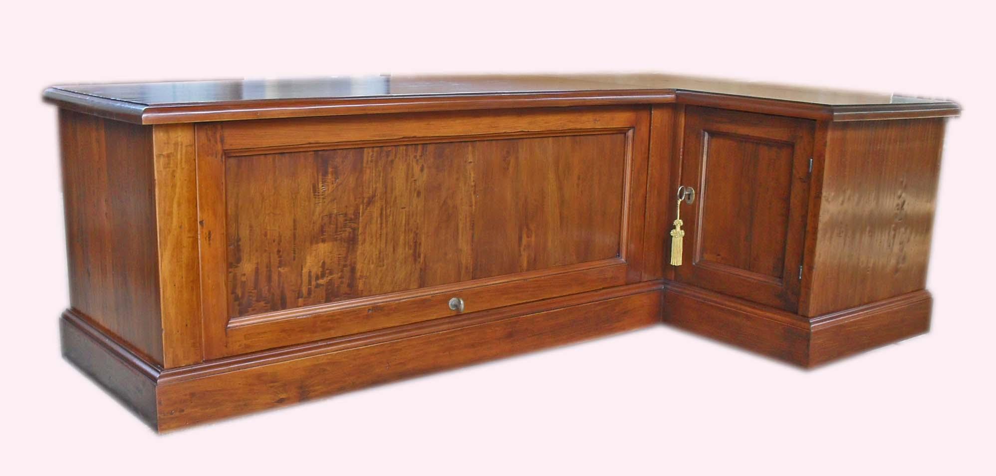 Porta tv angolo legno vecchio - La Commode di Davide Corno