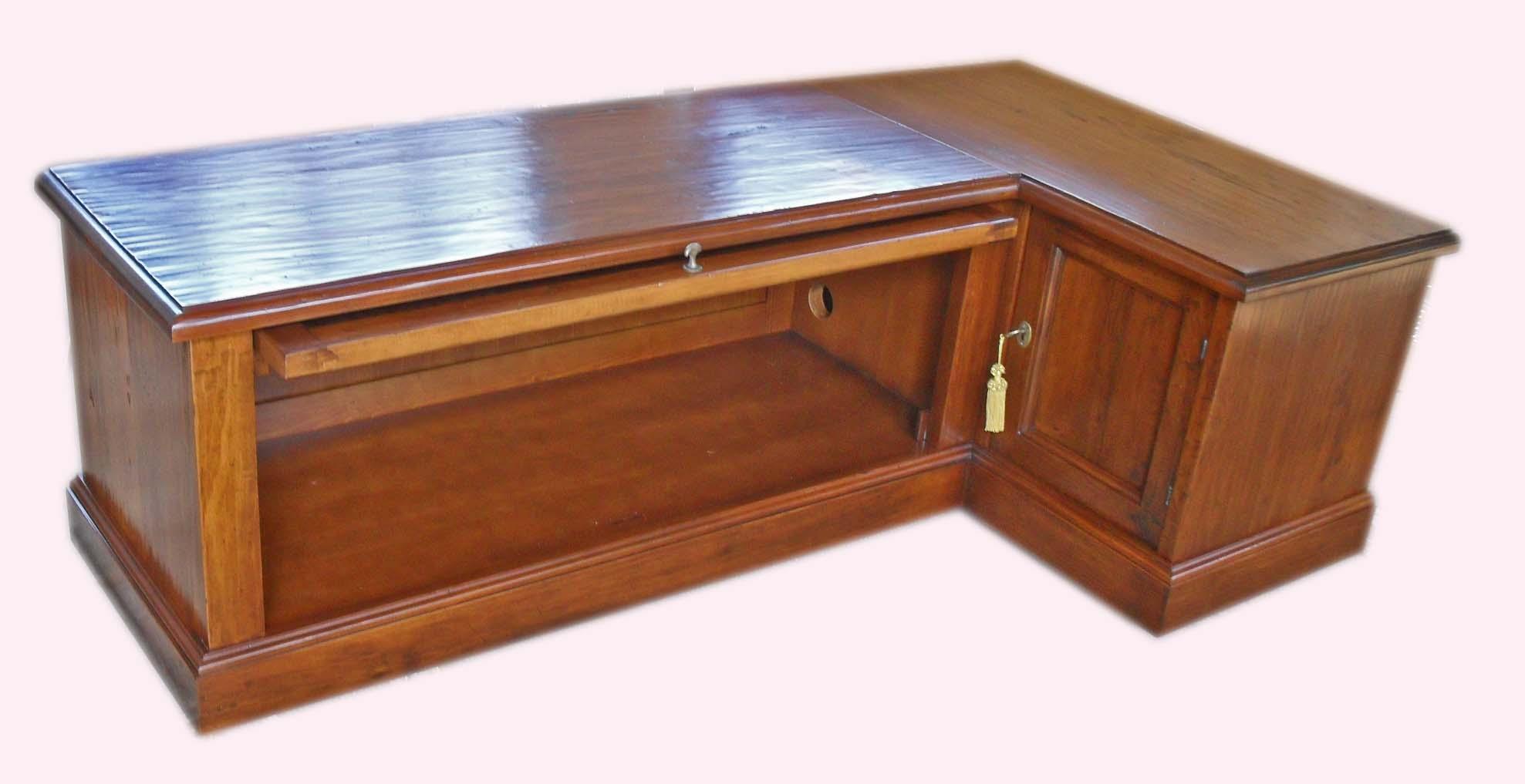 Porta tv angolo legno vecchio
