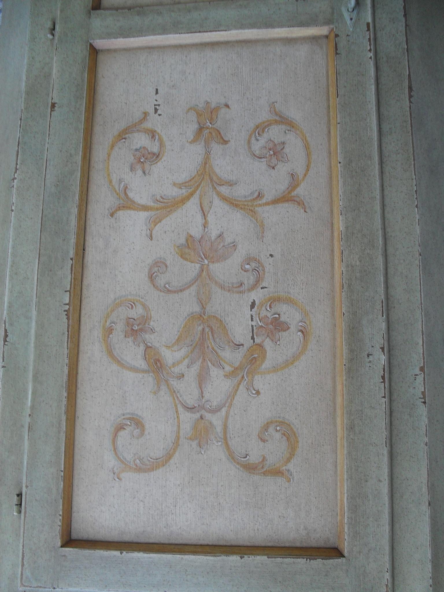 Mobili dipinti Brianza : angoliera cantonale