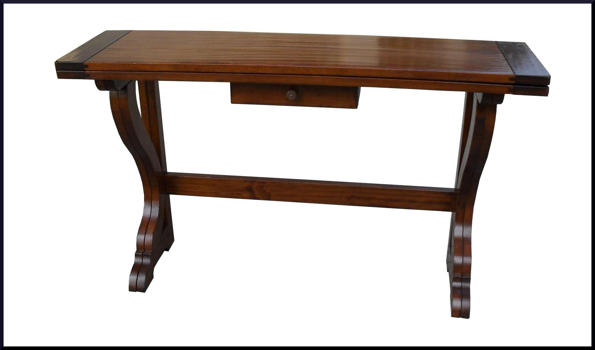 Tavolo consolle apribile a libro in legno massello la for Tavolo apribile