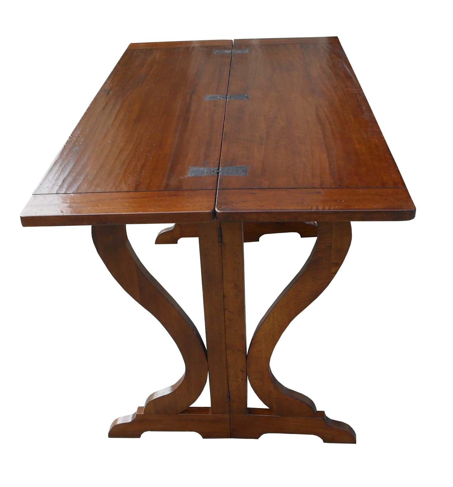 Tavolo consolle apribile a libro in legno massello la for Tavolo a libro