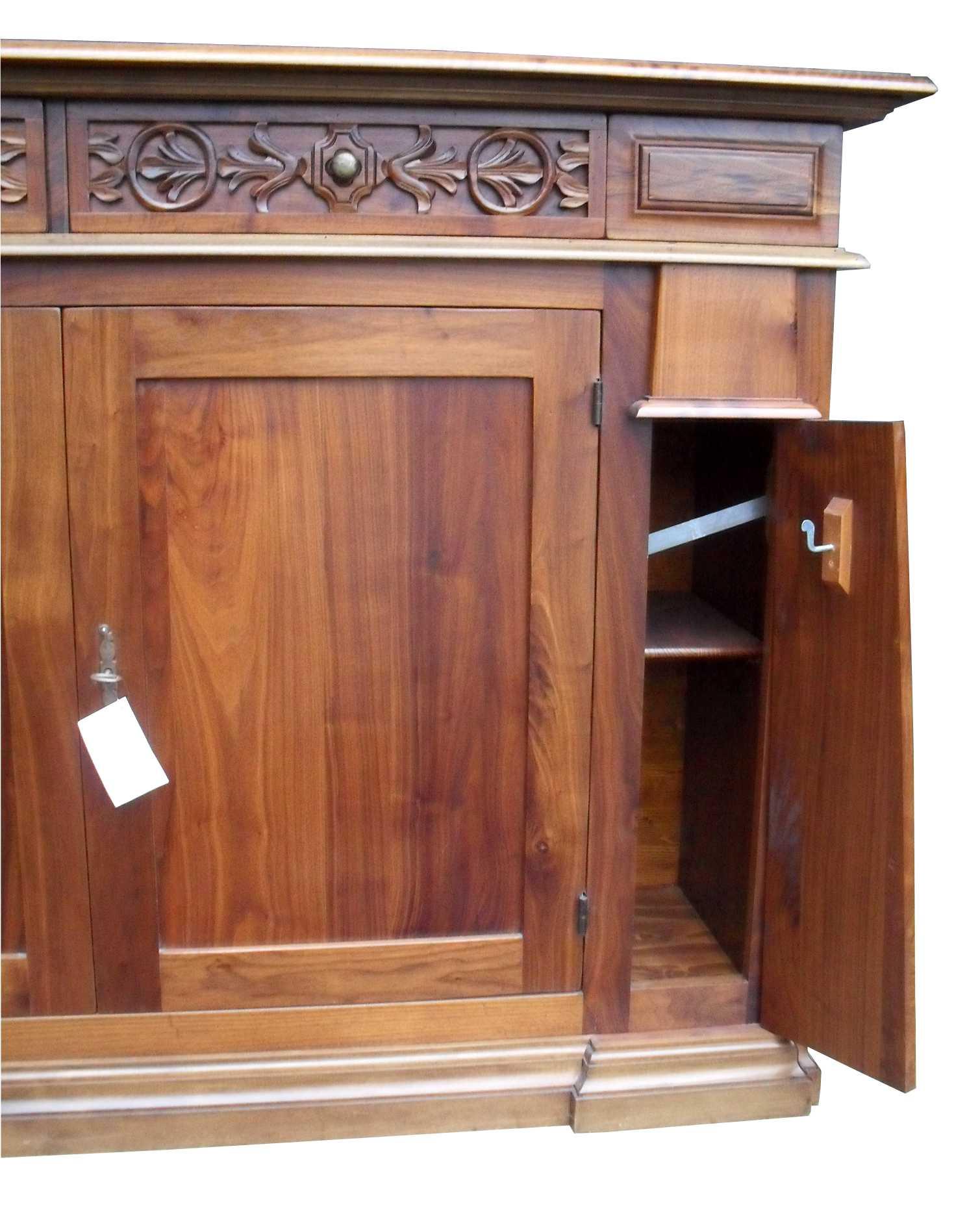 Credenza intagliata stile classico legno massello