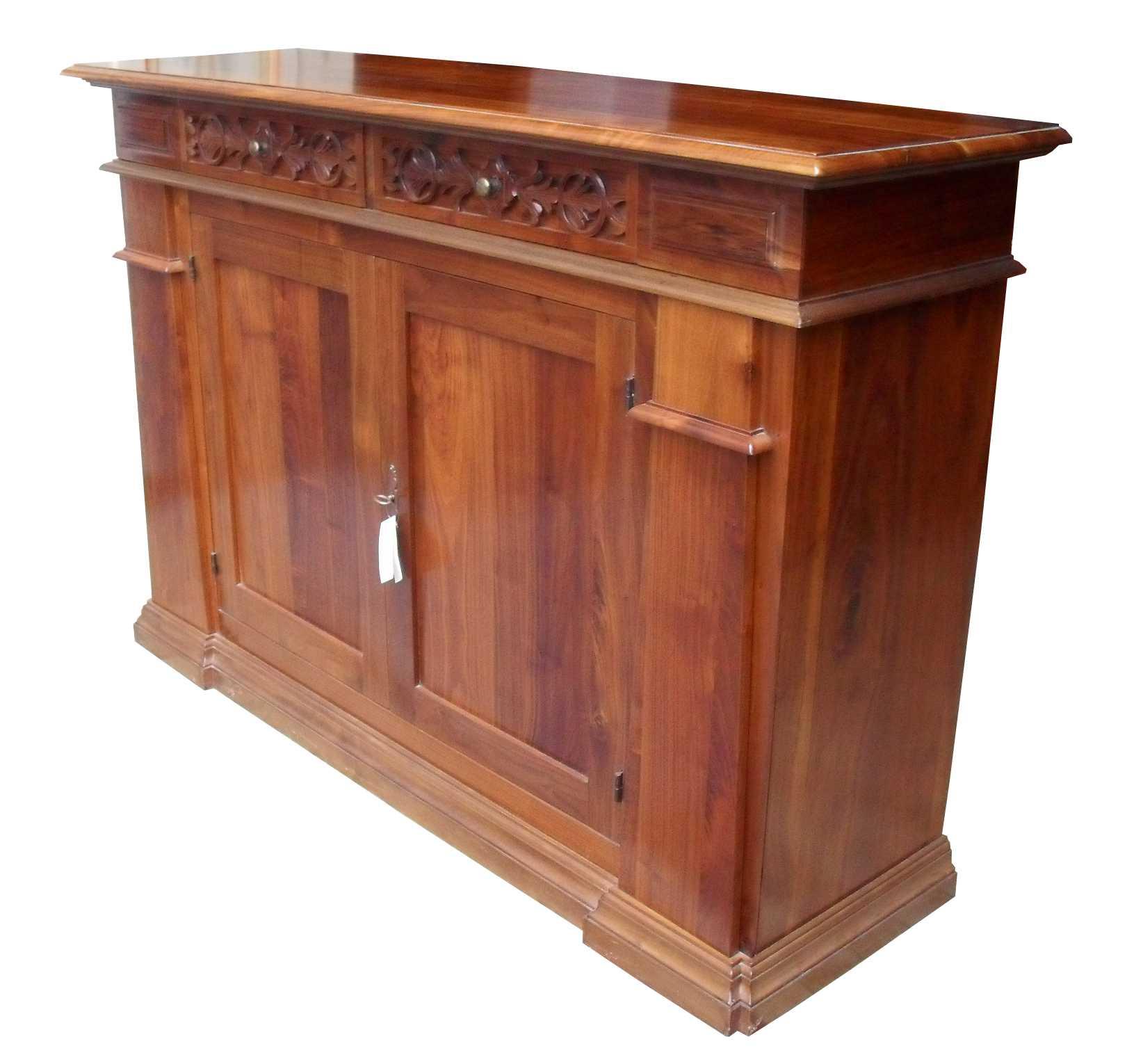 Credenza intagliata stile classico legno massello la commode di davide corno - Mobili restaurati ...