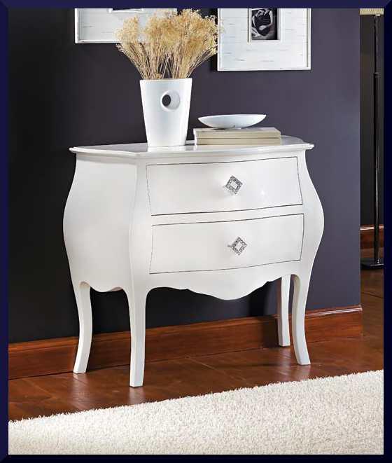 Piccolo como da ingresso laccato bianco lucido la for Catalogo di mobili