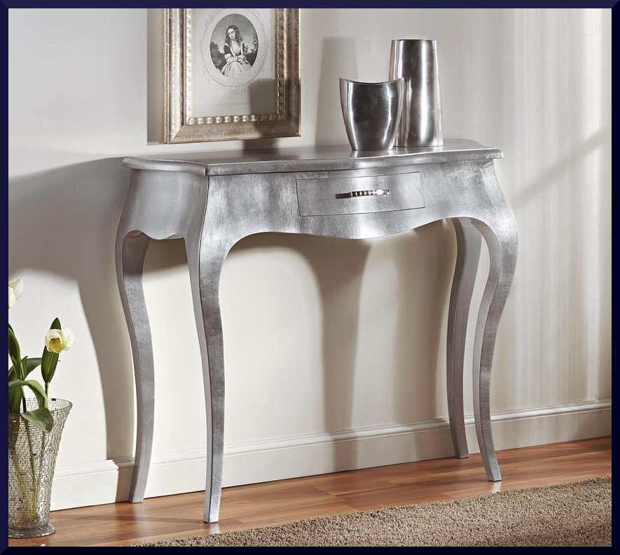 Consolle foglia argento stile 700