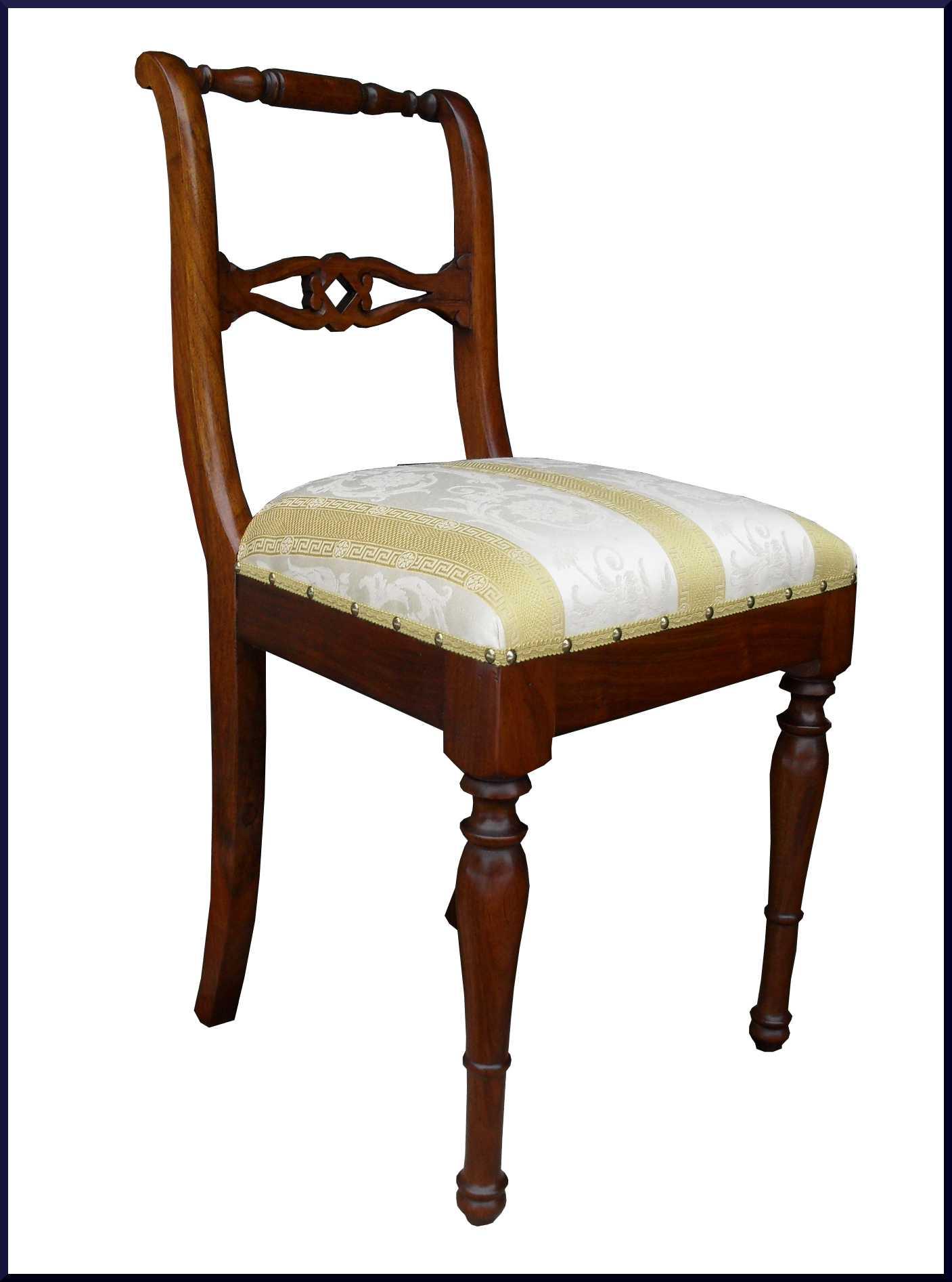 Elegante sedia artigianale classica stile 800