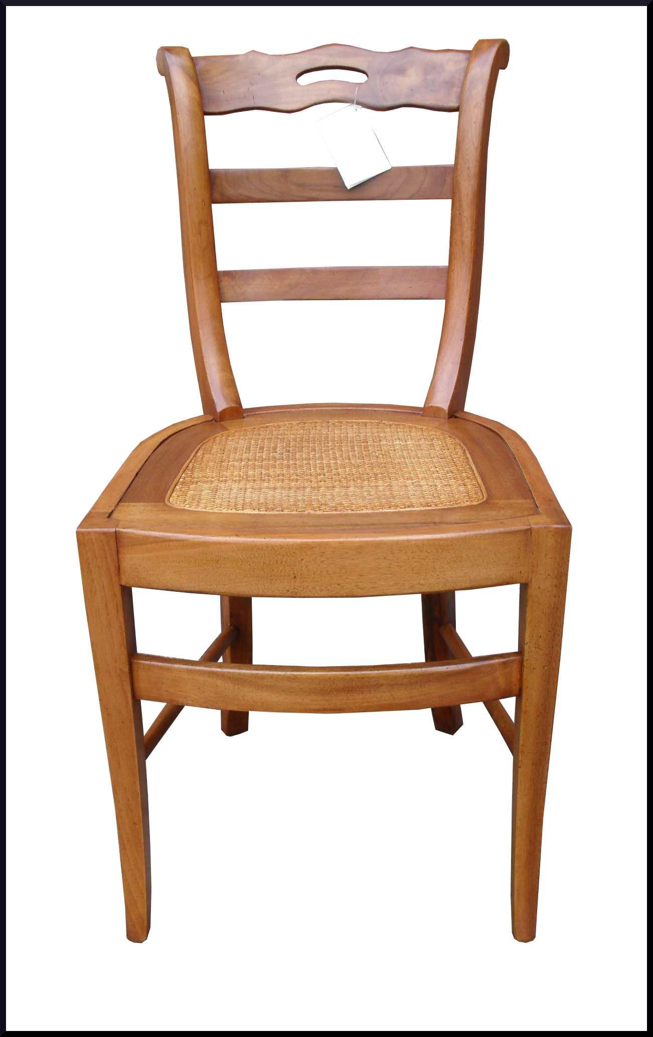 Artigianale sedia in noce con seduta in paglia di vienna for Sedie acciaio e paglia di vienna