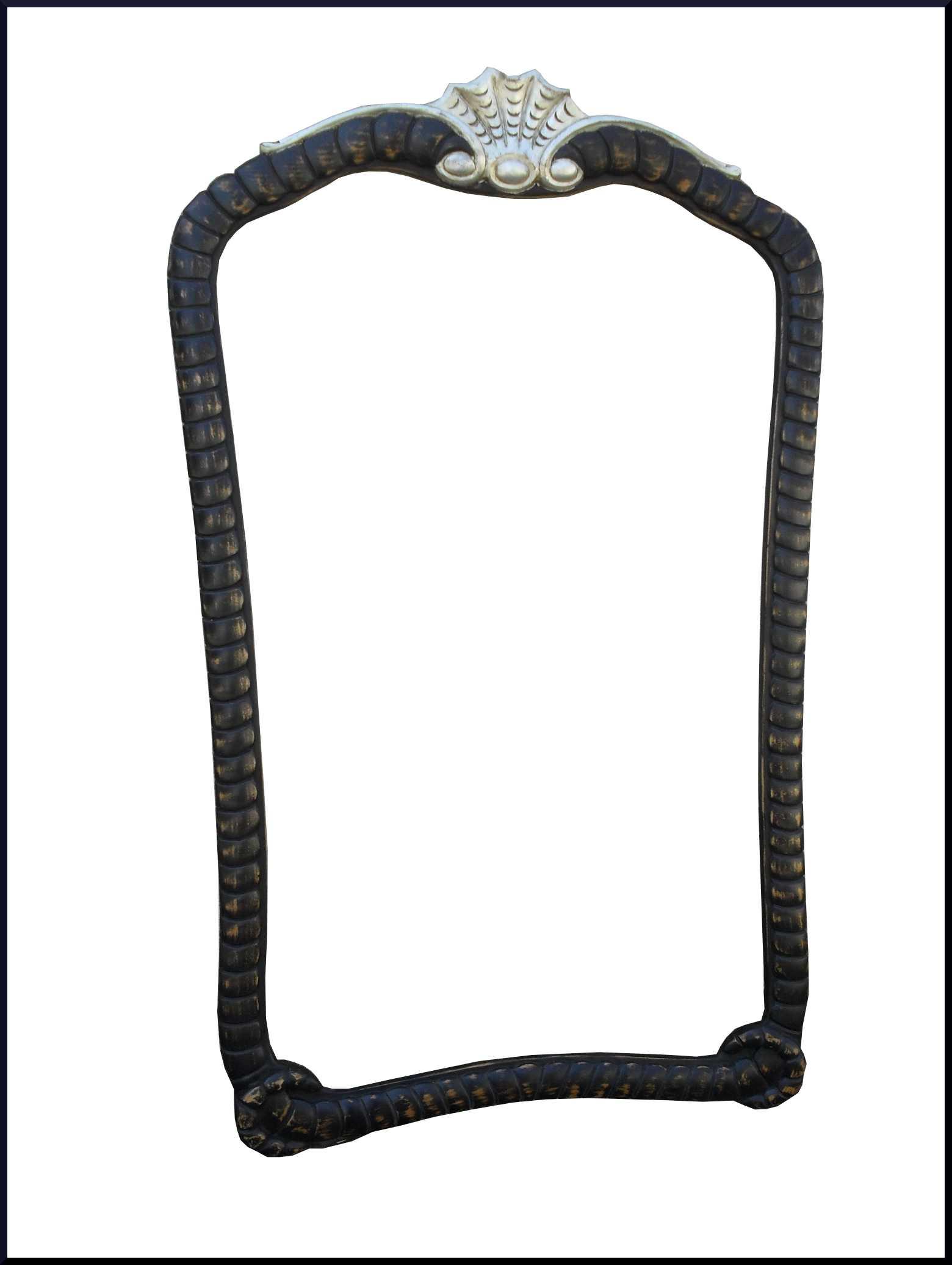 Specchiera intagliata con lavorazione a corda