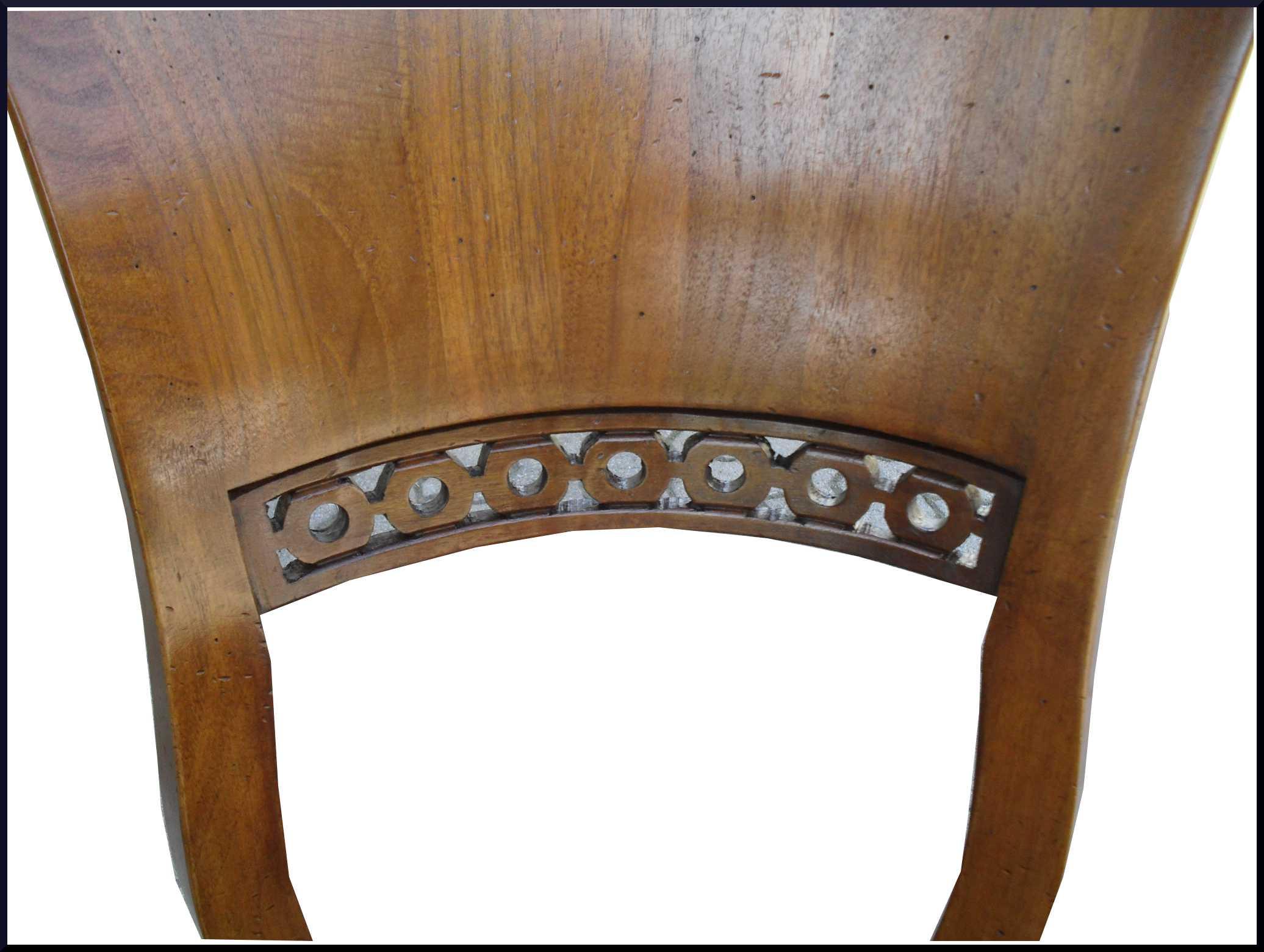 Sedia classica a ventaglio 800 con pelle