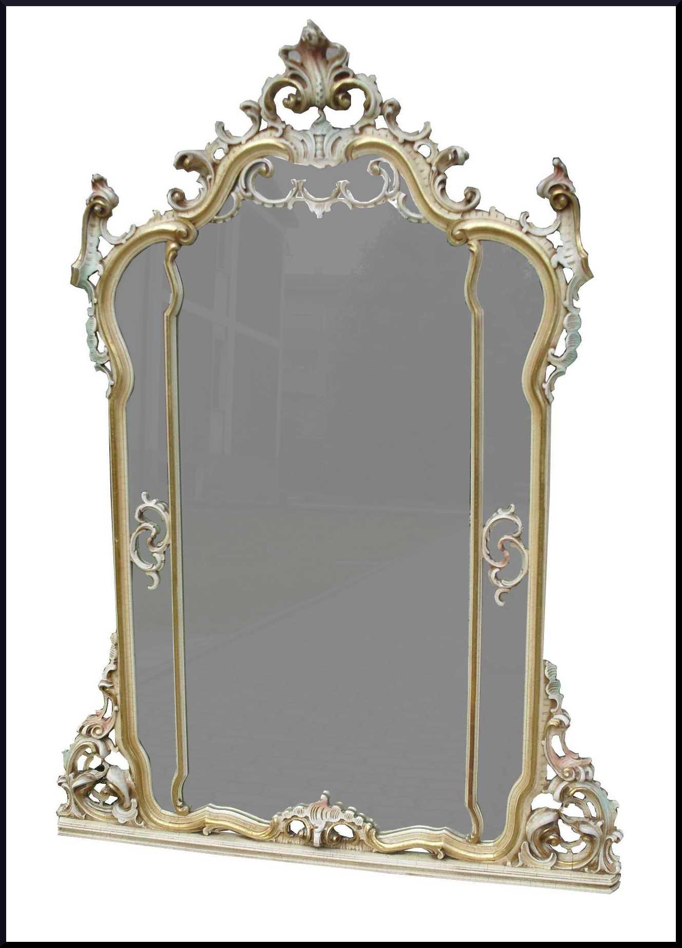 Consolle con specchiera laccata stile 700 veneto
