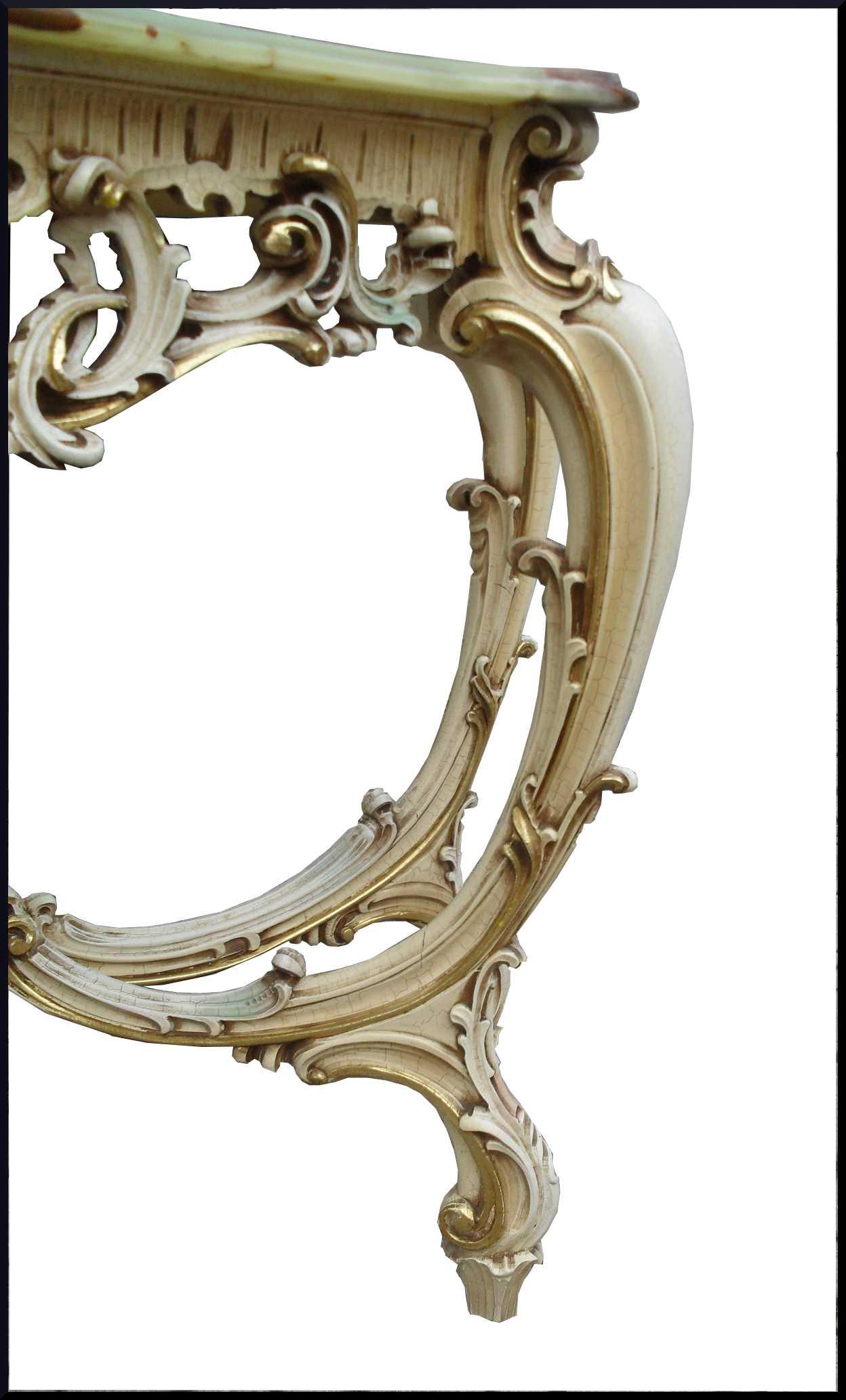 Consolle Allungabile Laccata Life Promo : Consolle intagliata a mano e decorata in stile veneziano