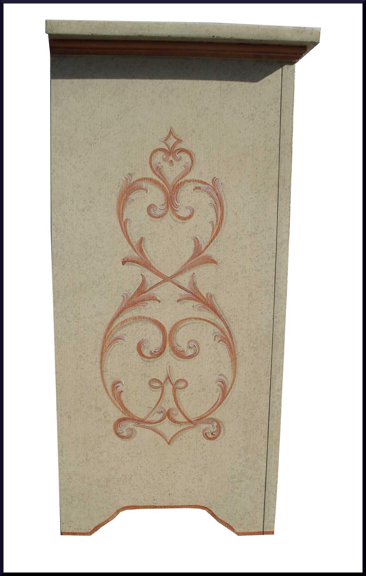 Credenza 3 porte dipinta a mano stile provenzale - La Commode di ...