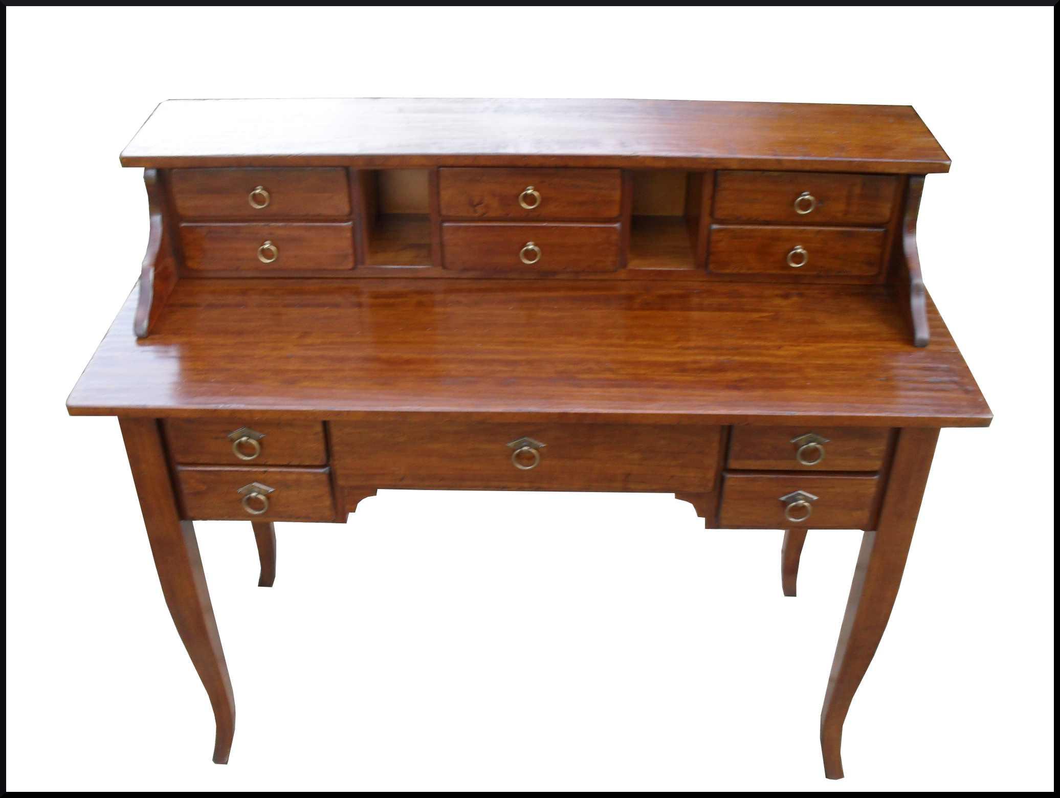 Scrittoio scrivania con alzatina e cassetti