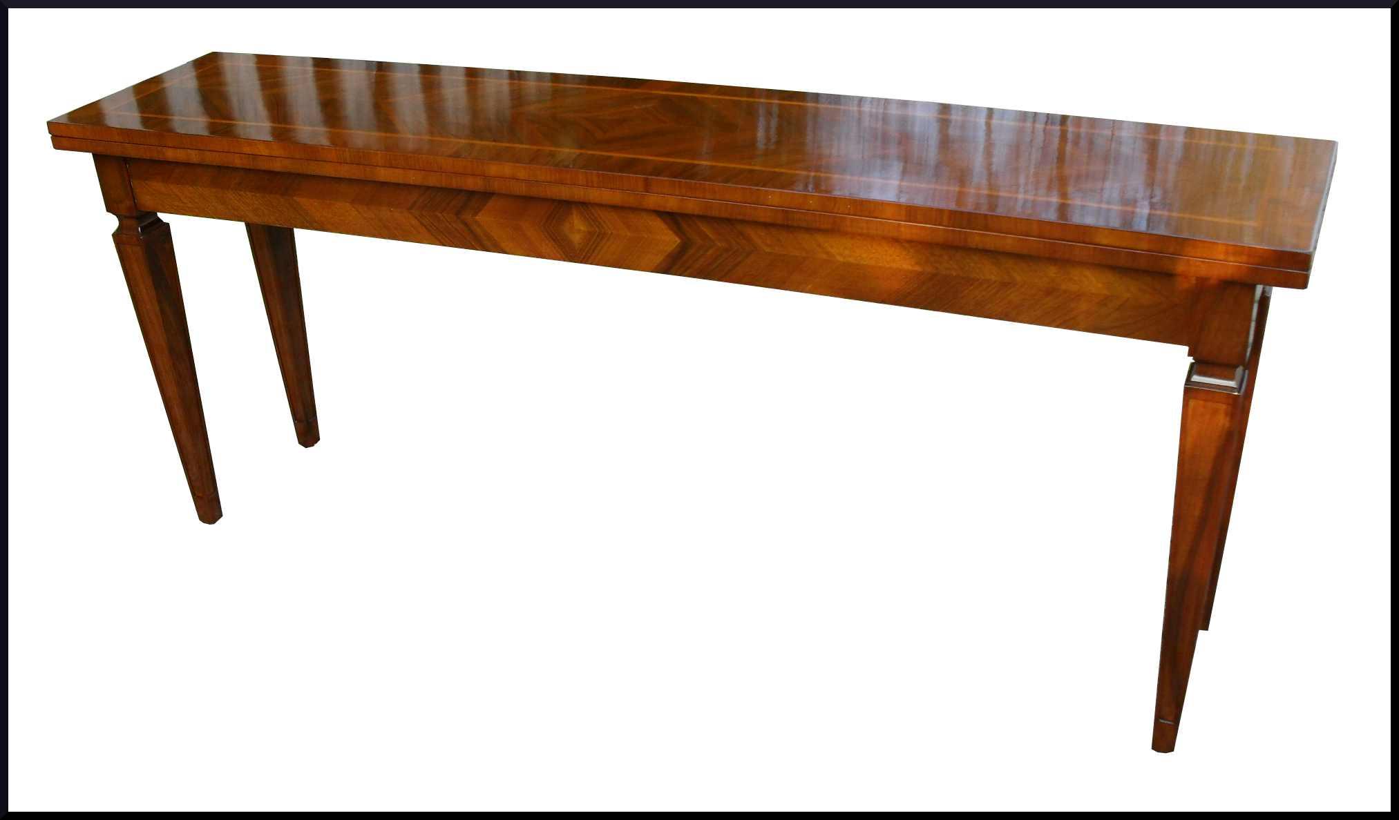Elegante tavolo apribile a consolle noce la commode di for Tavolo consolle noce