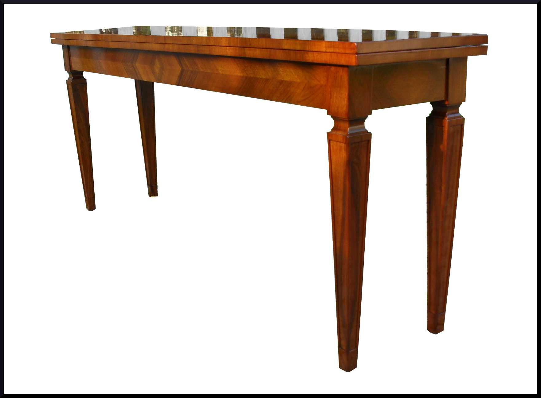 Elegante tavolo apribile a consolle noce