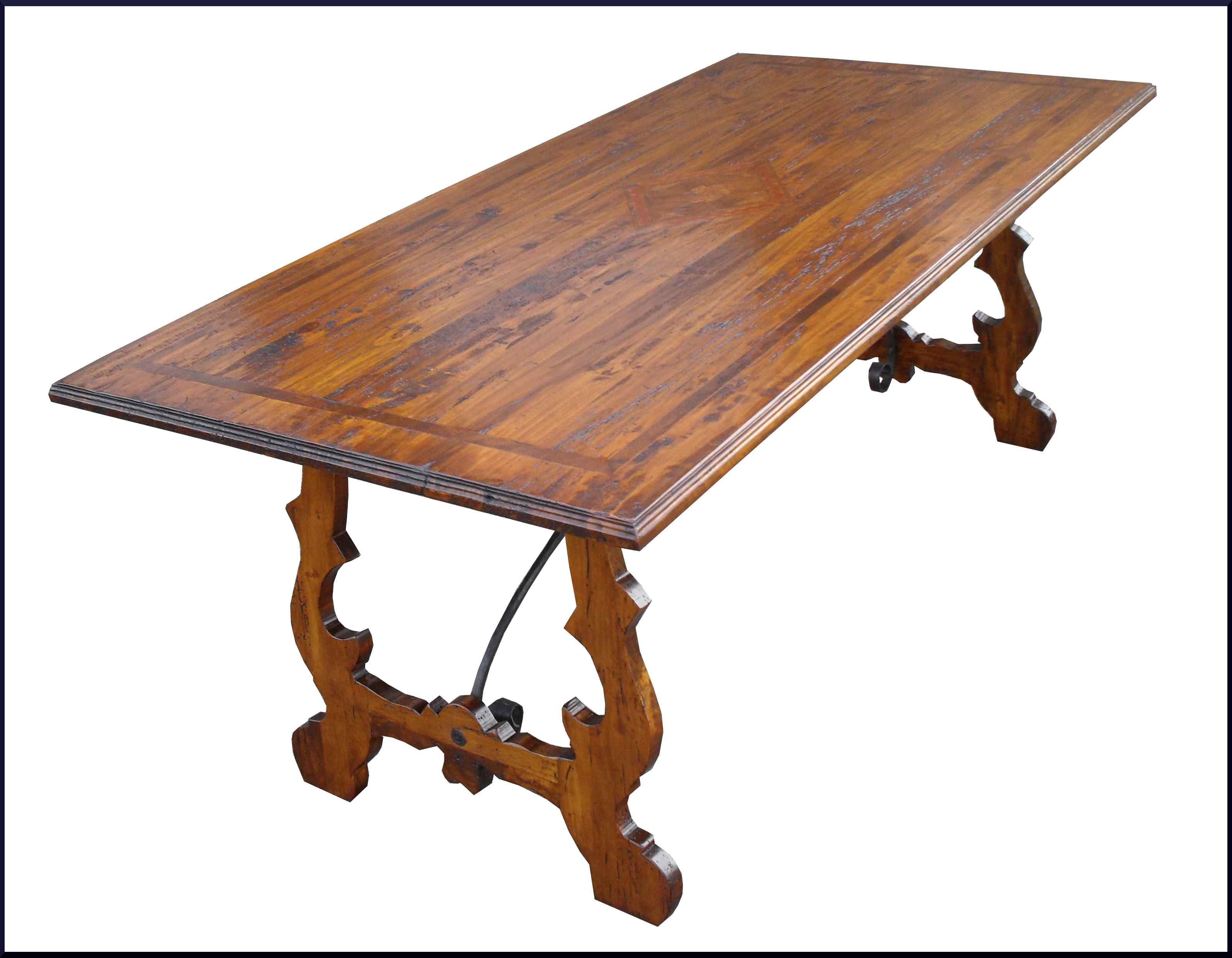 Tavolo fratino con ferri in legno antico 600 - La Commode di ...