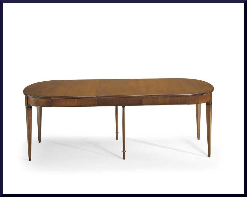 Tavolo ovalino classico apribile allungabile la commode - Tavolo consolle allungabile stile classico ...