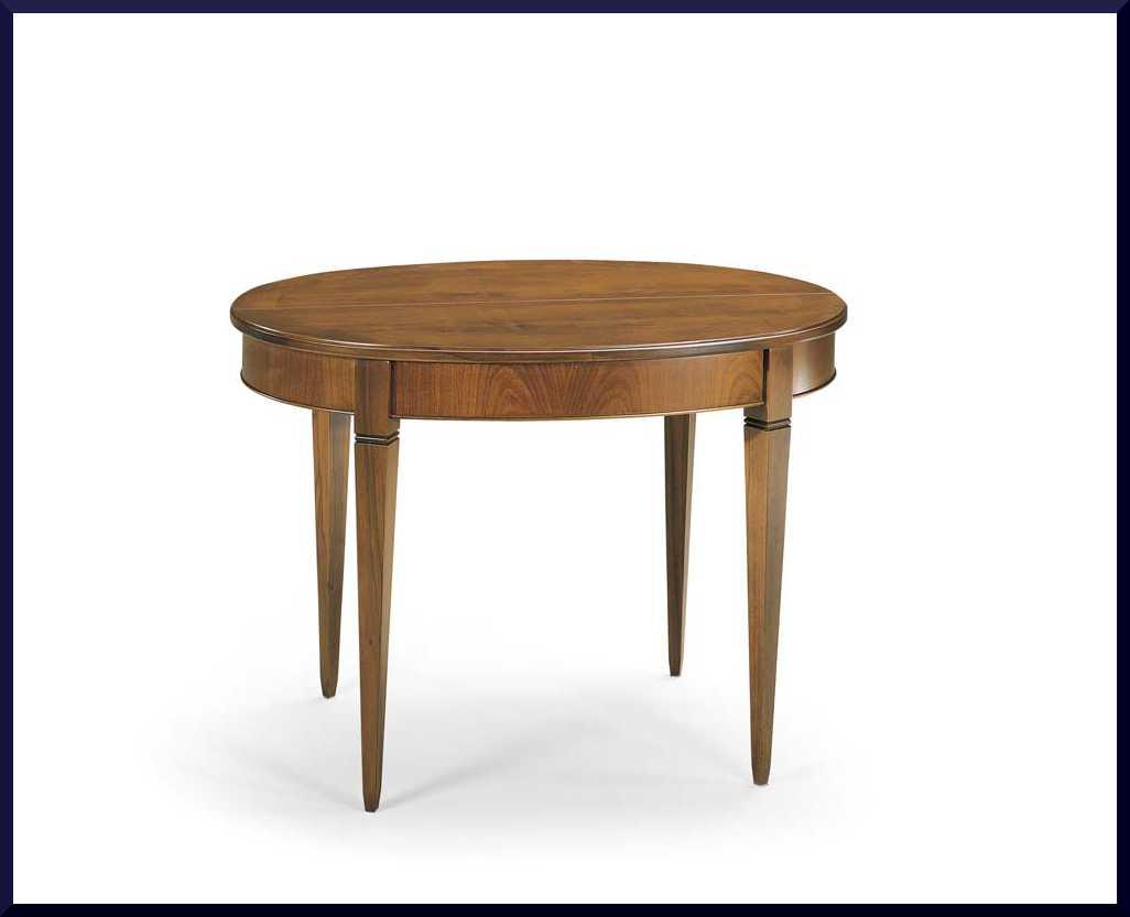 Tavolo ovalino classico apribile allungabile - La Commode ...