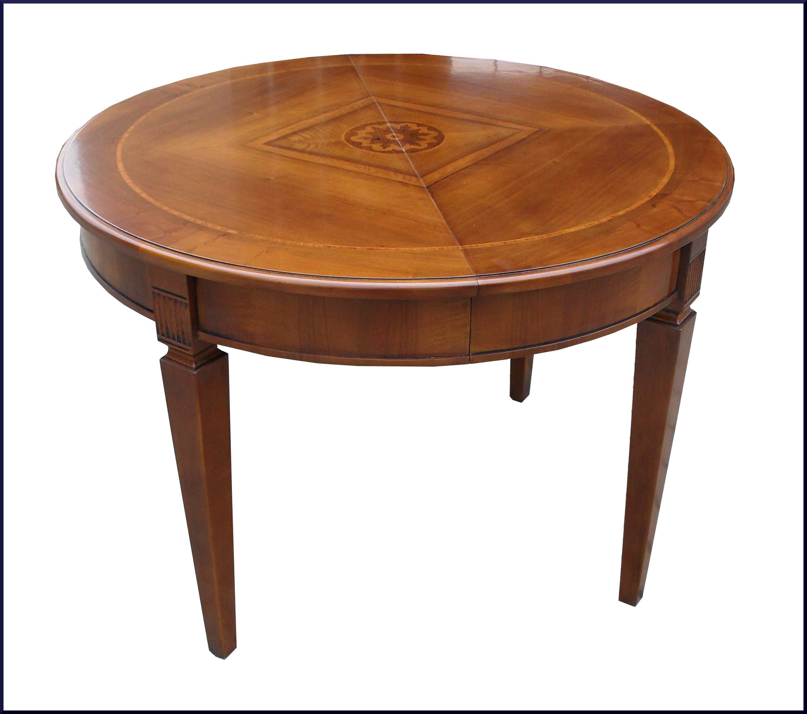 tavolo rotondo con gamba scanalata apribile la commode