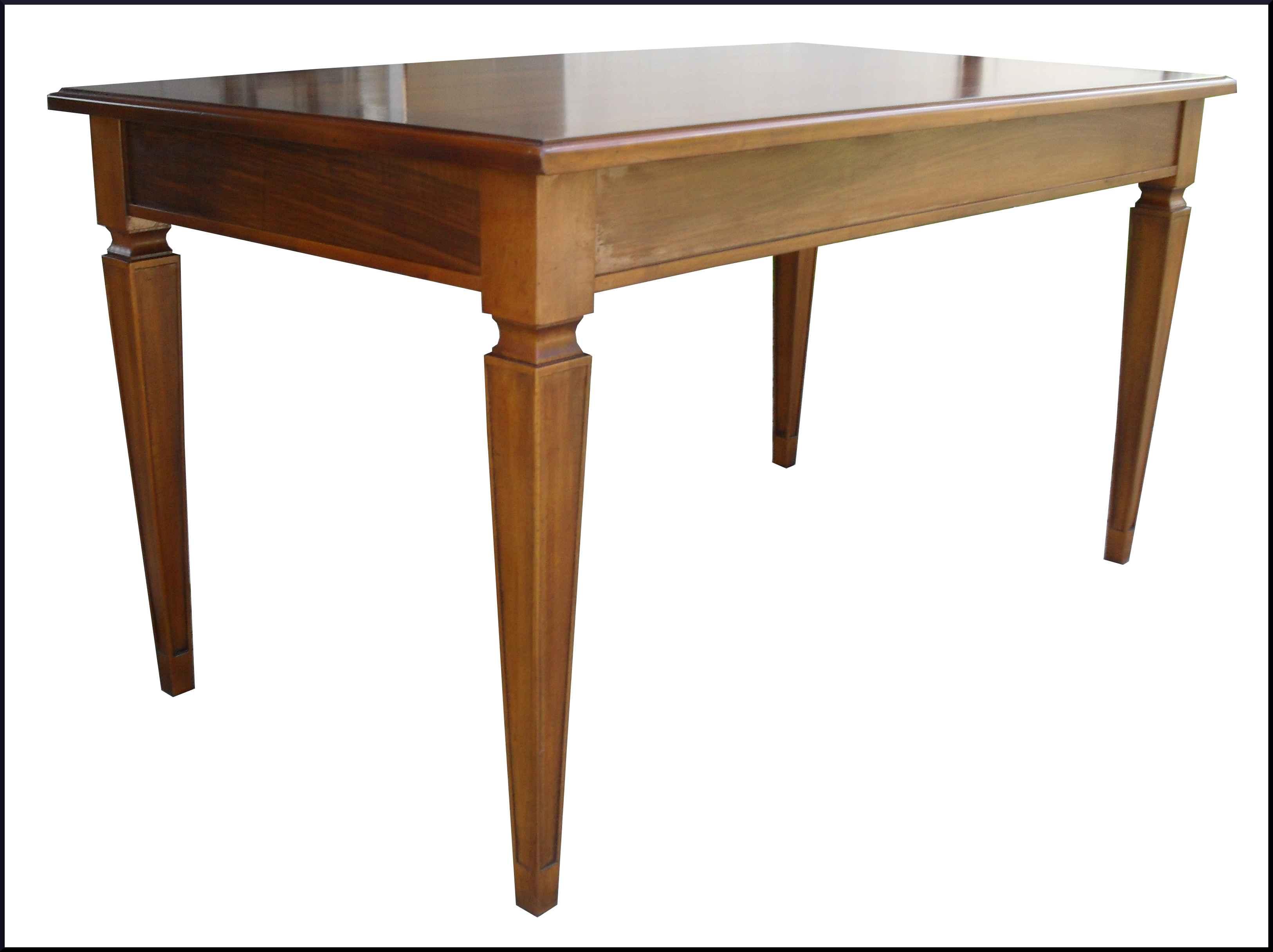 Tavolo classico apribile con piano scorrevole