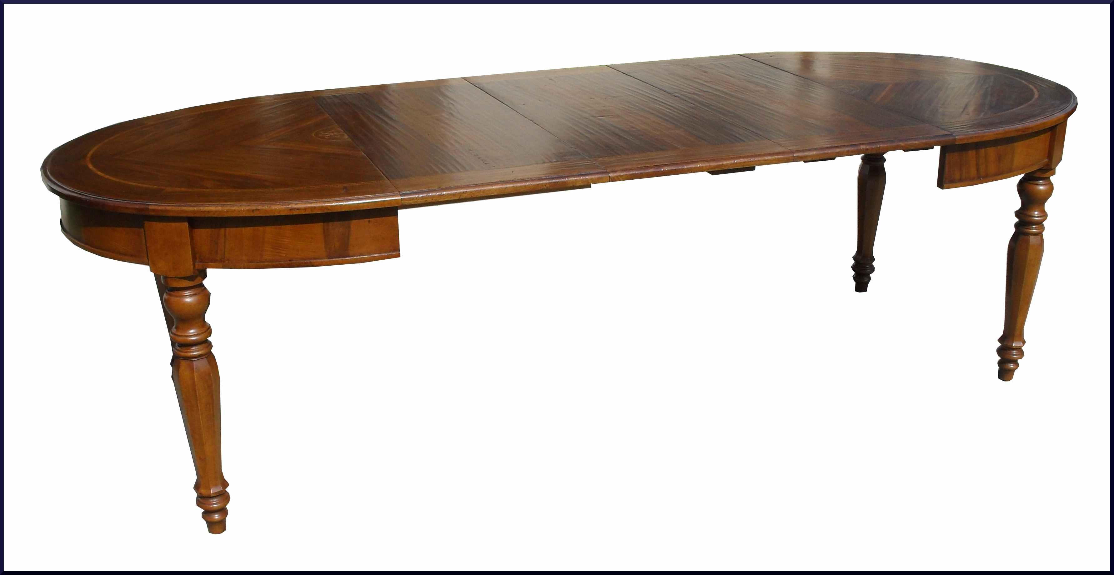 Tavolo ovale classico intarsiato