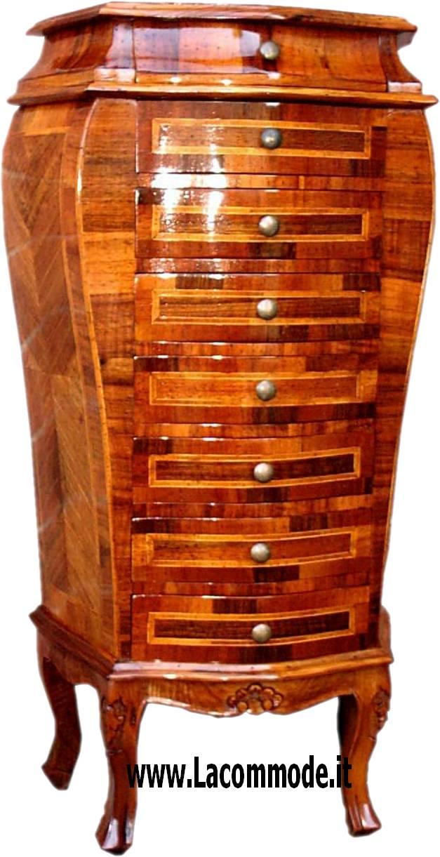 Bellissima cassettiera di stile settecentesco completamente lastronata a mano come la fattura - Mobili in stile cerea ...