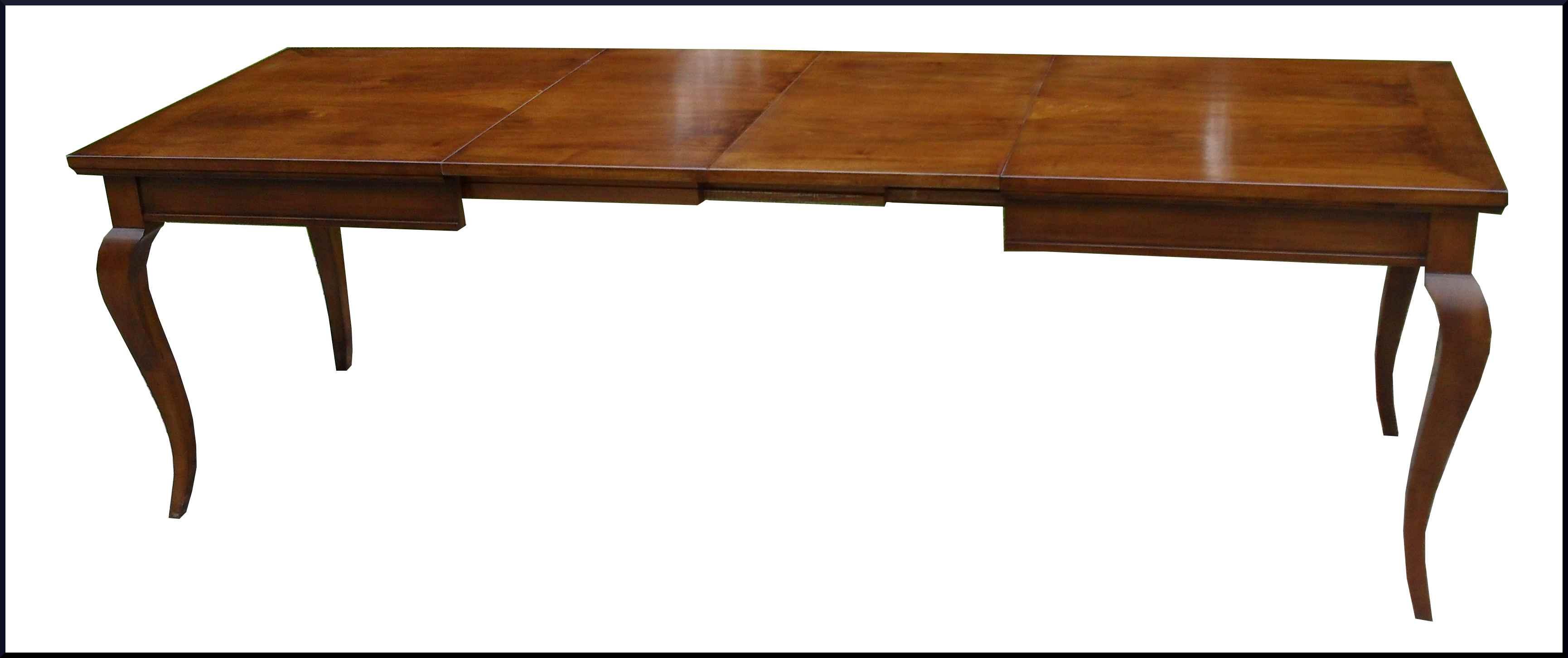 Tavolo classico con intarsio floreale centrale