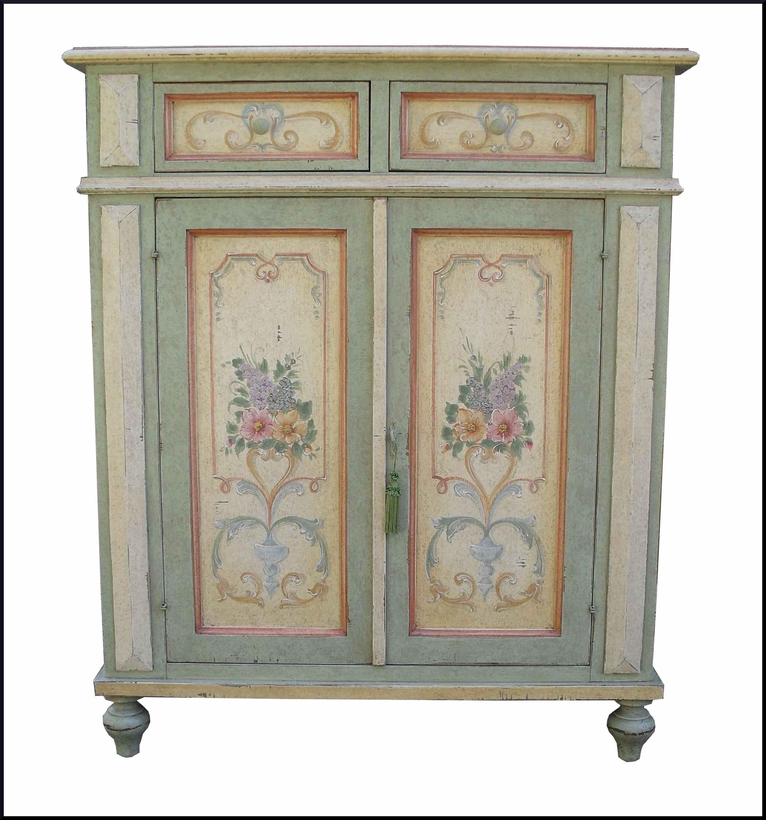 Credenzina classica laccata e dipinta a mano la commode - Mobili stile provenzale ...