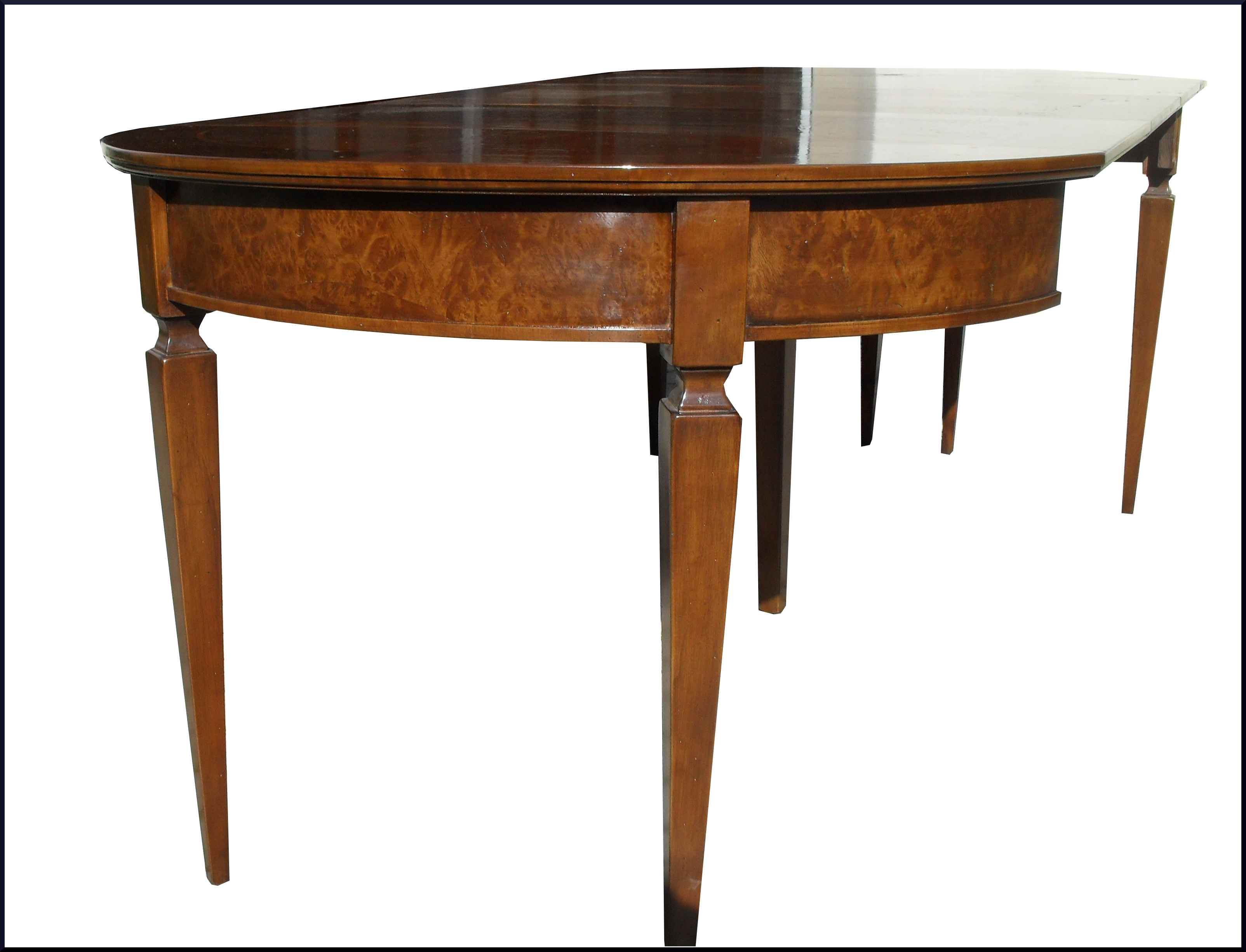 Tavolo classico demilune apribile a consolle