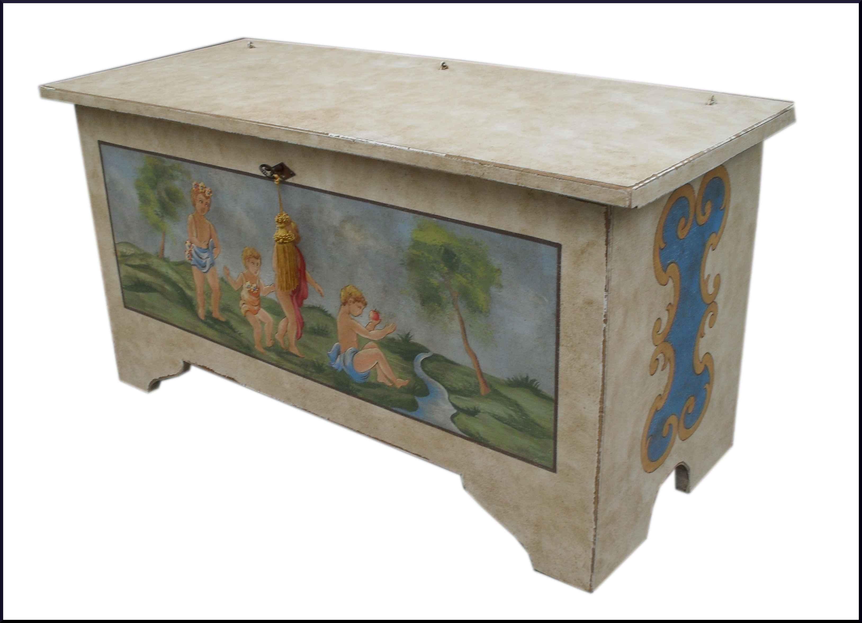 Cassapanca dipinta a mano la commode di davide corno - Cassapanca decorata ...
