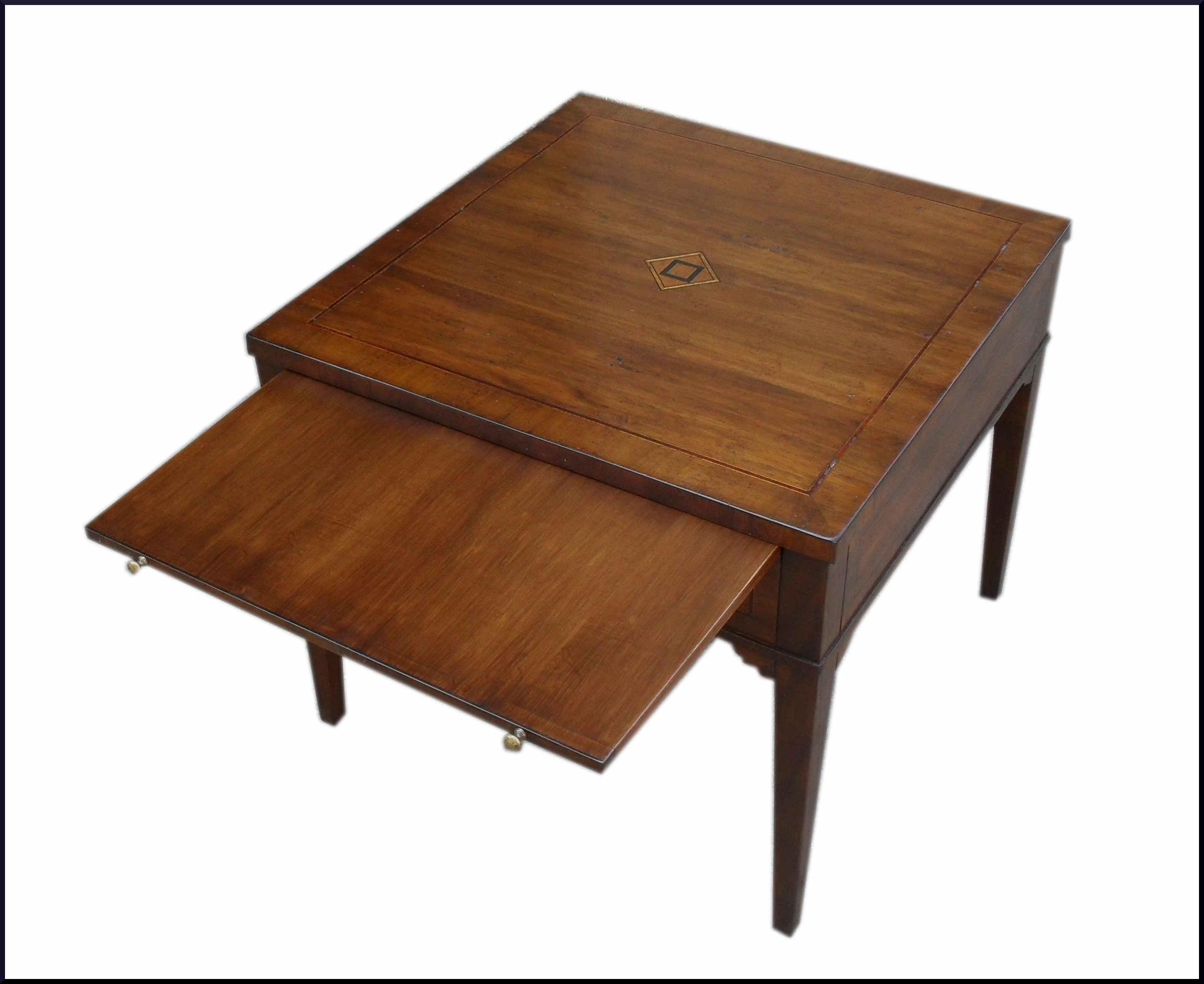 Tavolino quadrato da salotto con intarsio