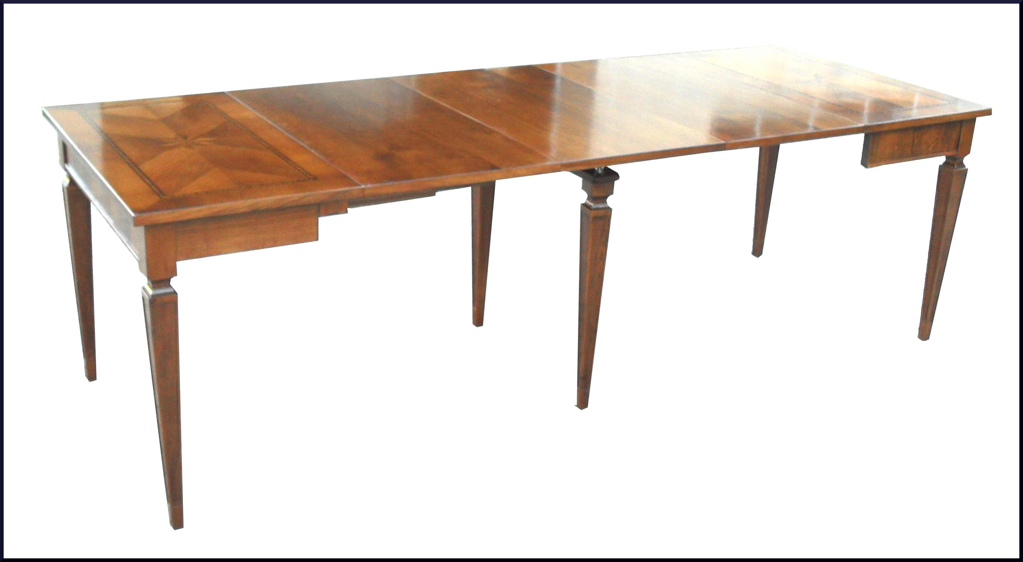 Tavolo a consolle artigianale con intarsio