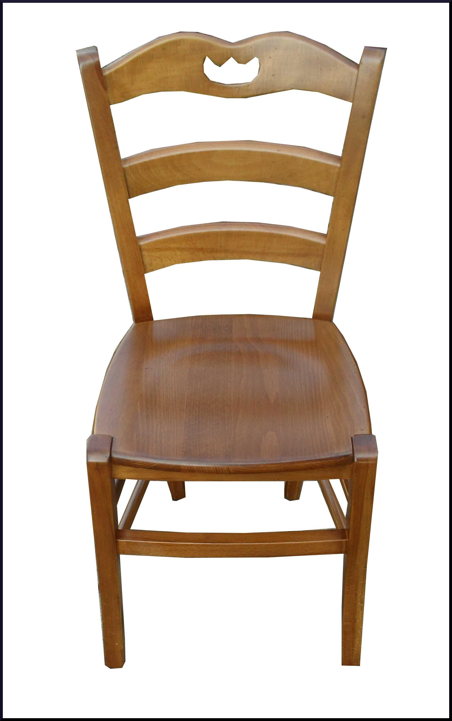 Sedia campagnola con seduta in legno