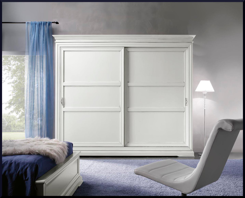 Armadio due porte scorrevoli laccato bianco - La Commode ...